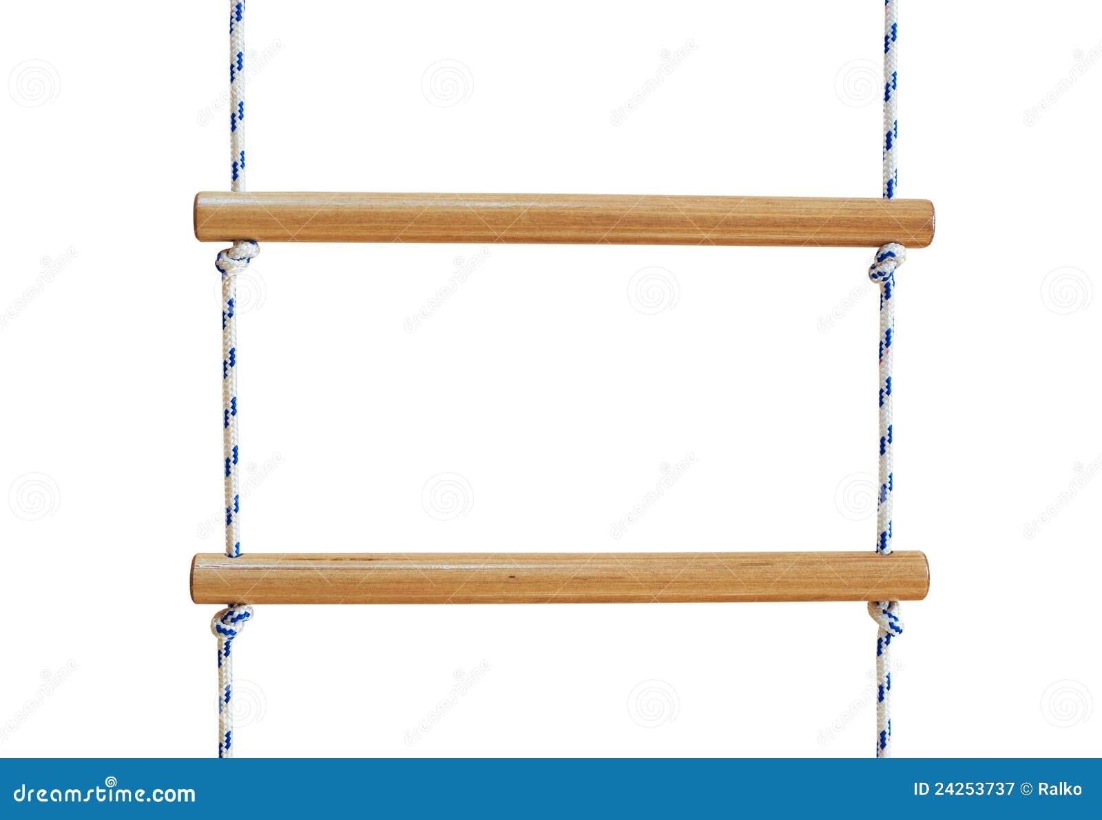 Escada De Corda De Madeira Fotografia de Stock Royalty Free Imagem  #82A229 1300x984