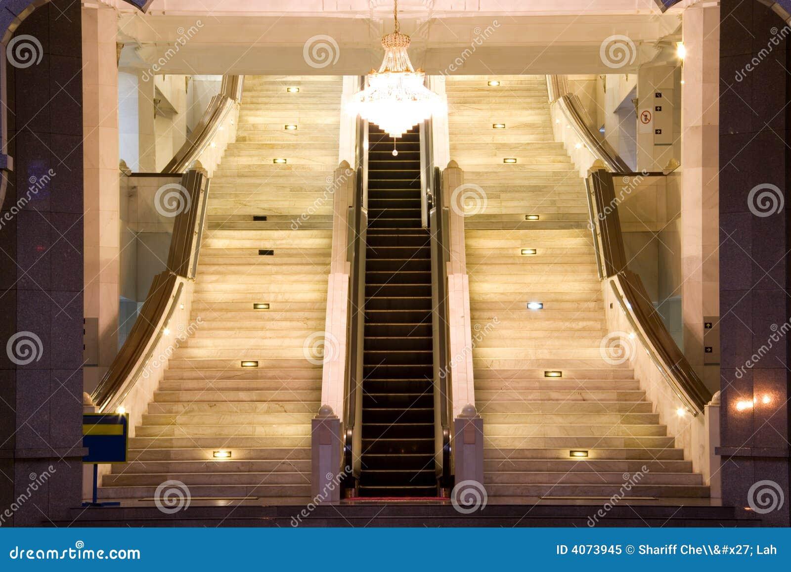 Escada rolante e stairways