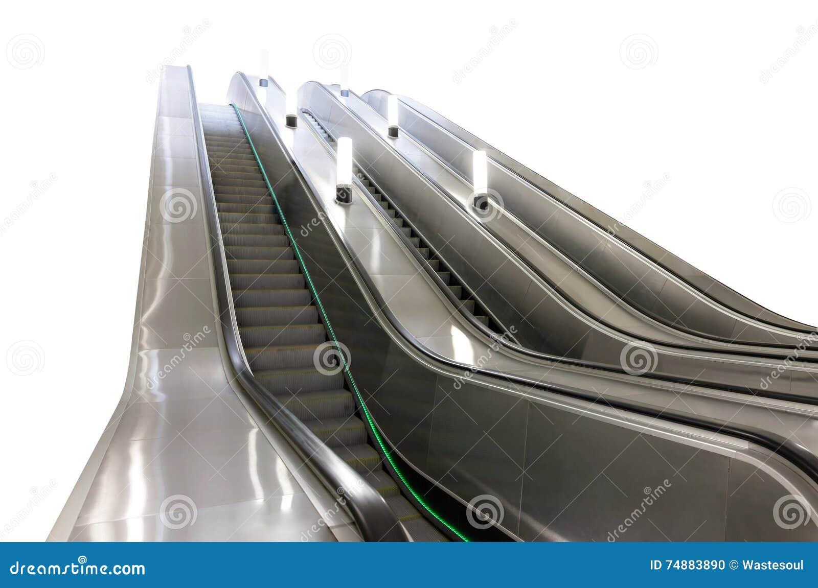 Escada rolante no metro de Moscou