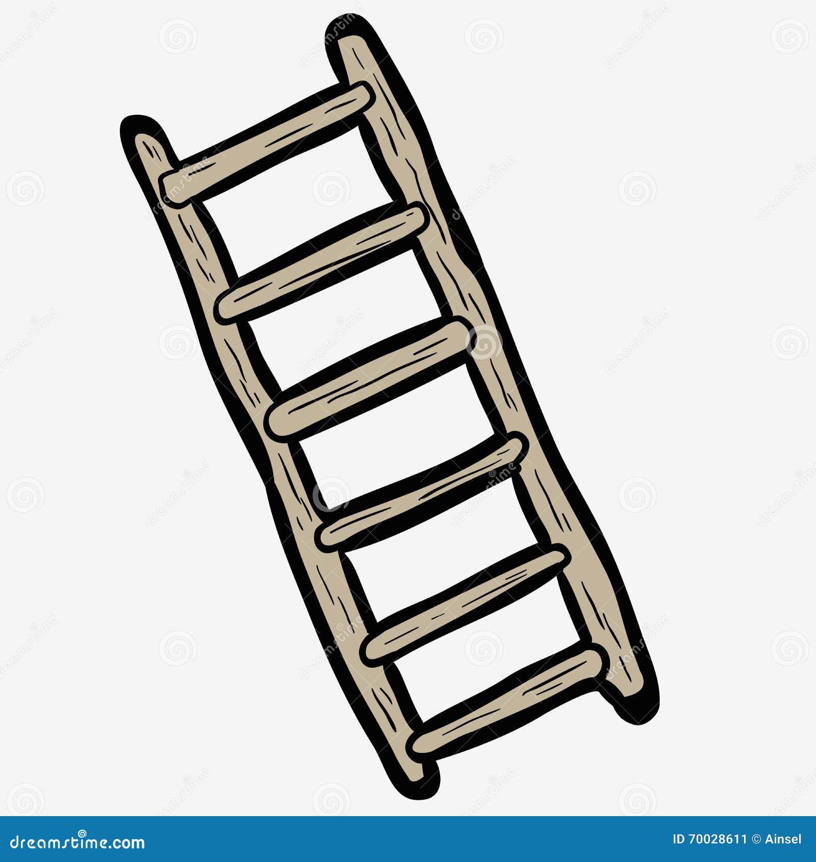 Escada tirada a m o livre dos desenhos animados ilustra o for Apliques para subida de escalera