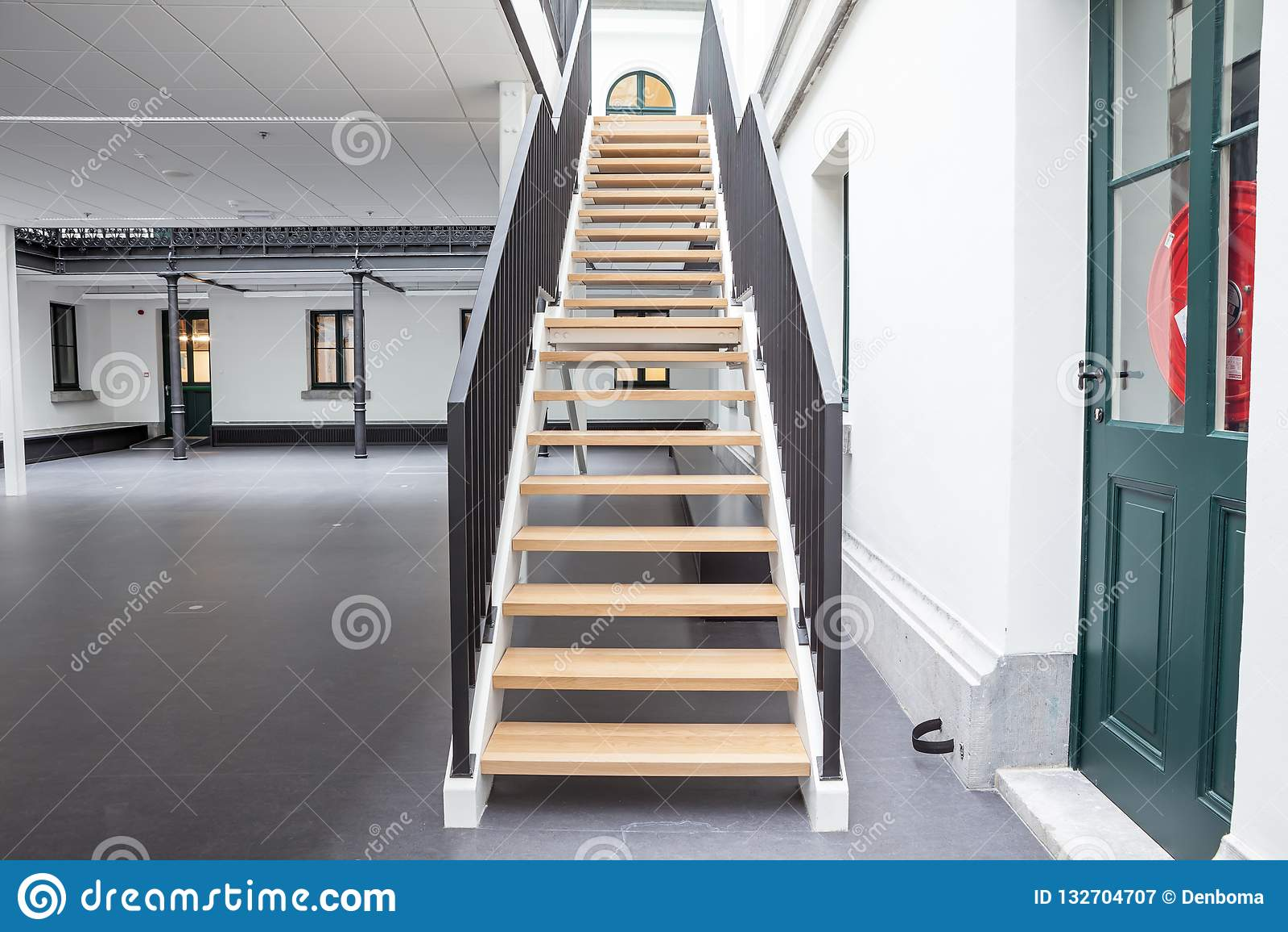 Escadaria em uma construção