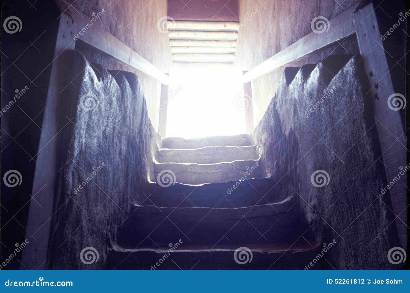 Escadaria nas ruínas indianas astecas, La Plata, nanômetro