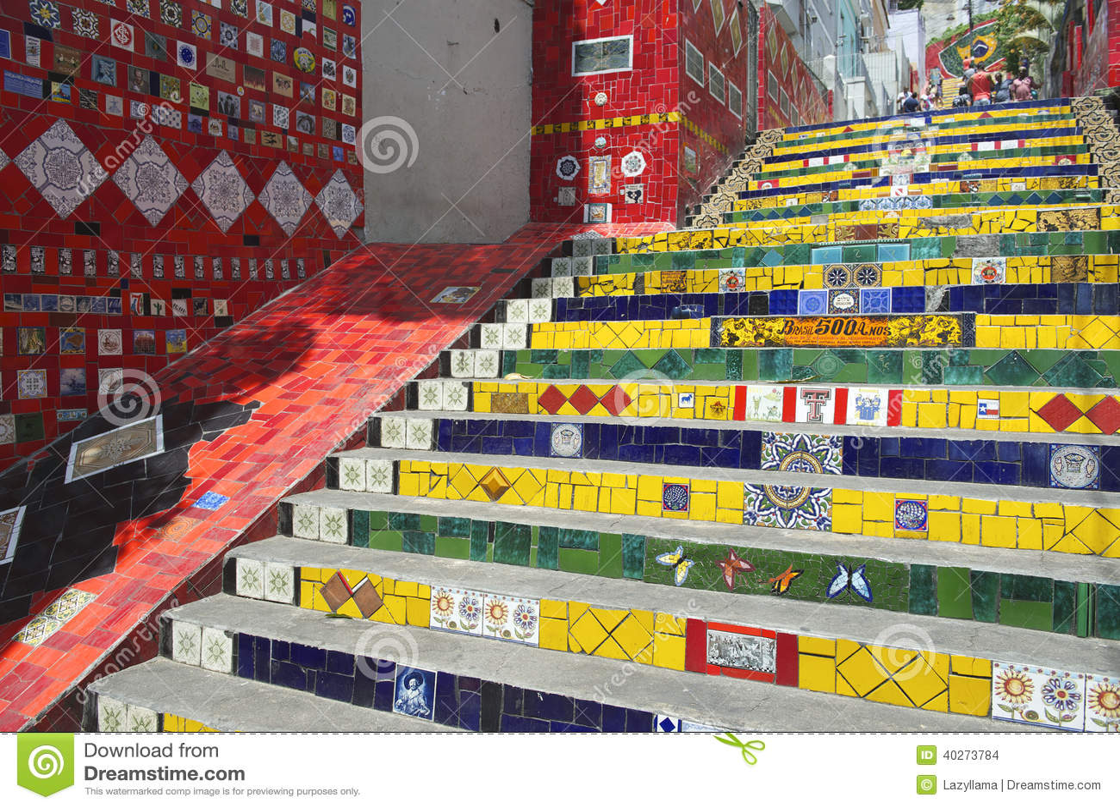 Escadaria Selaron Steps Rio de Janeiro Brazil
