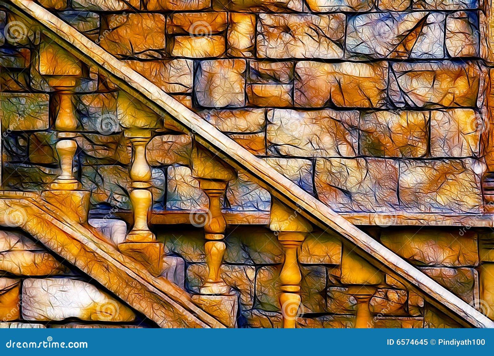 Escadaria velha do castelo