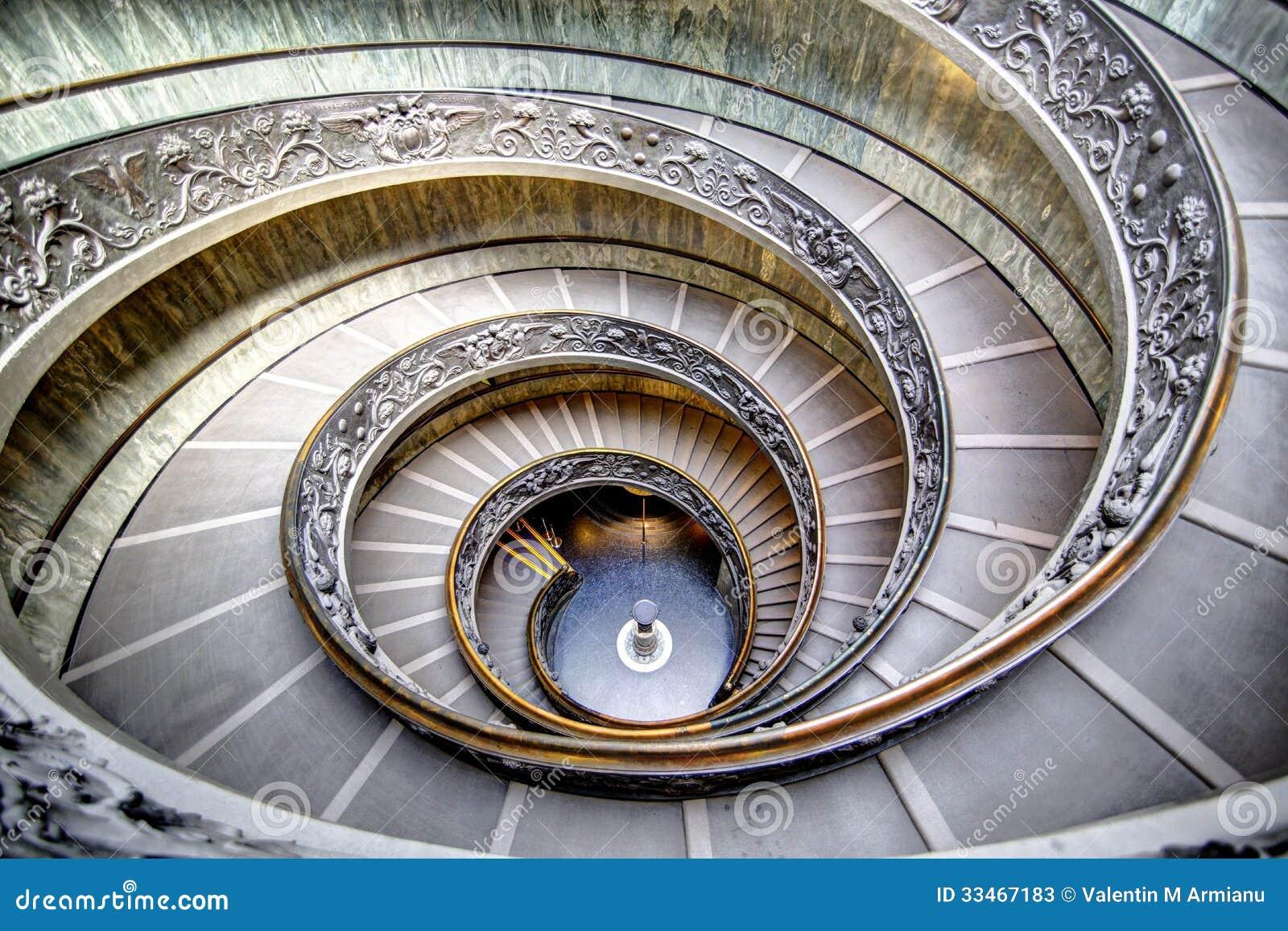 Escadas espirais no Vaticano