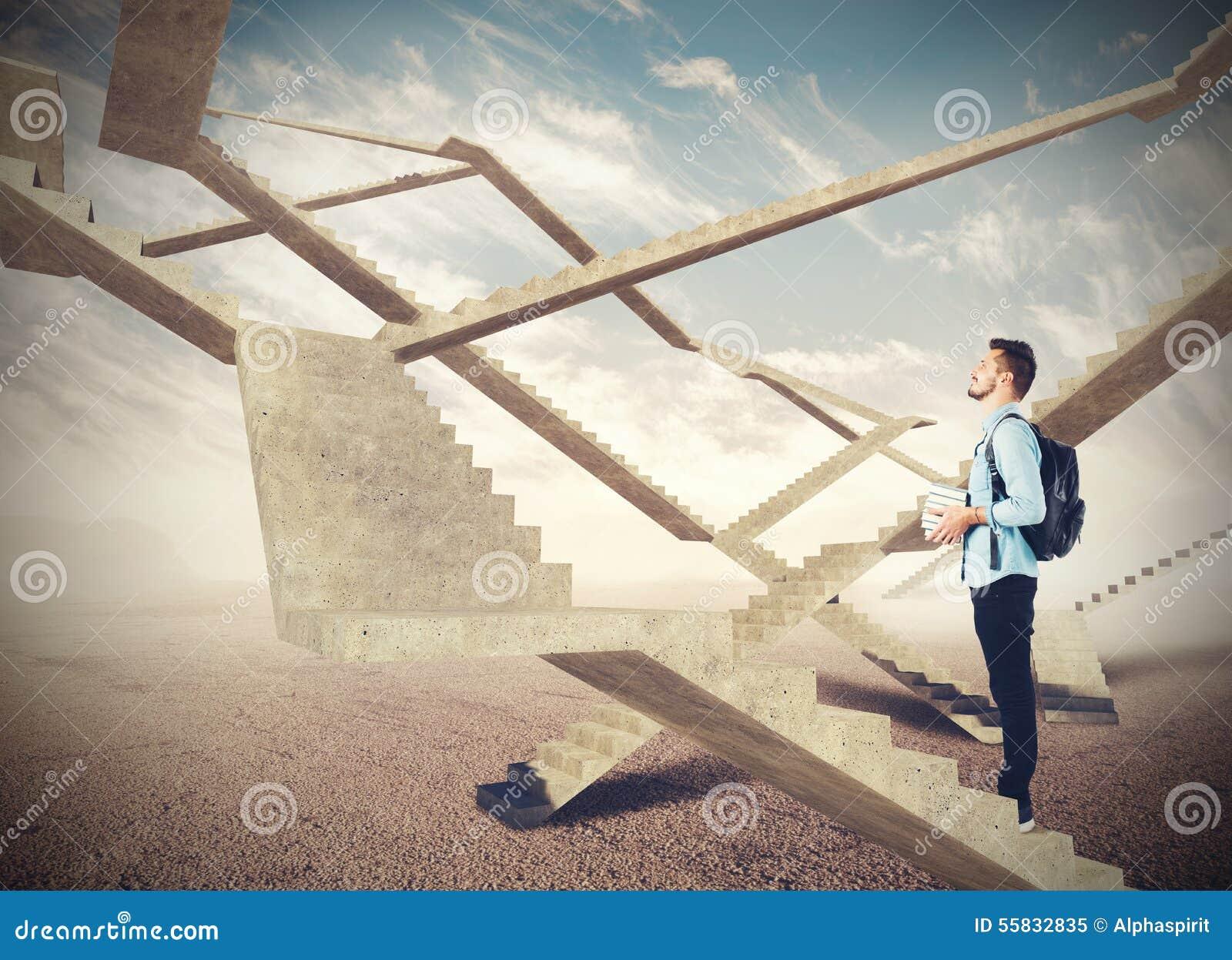 Escadas infinitas do futuro