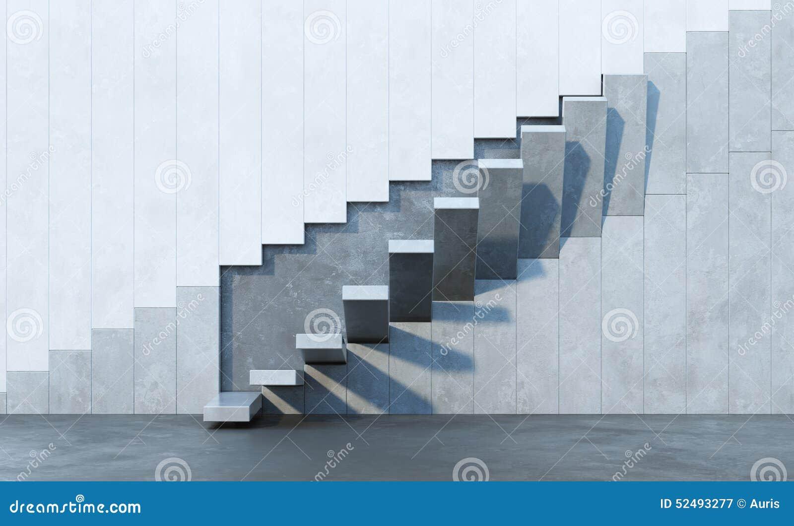 Escadas que conduzem para cima