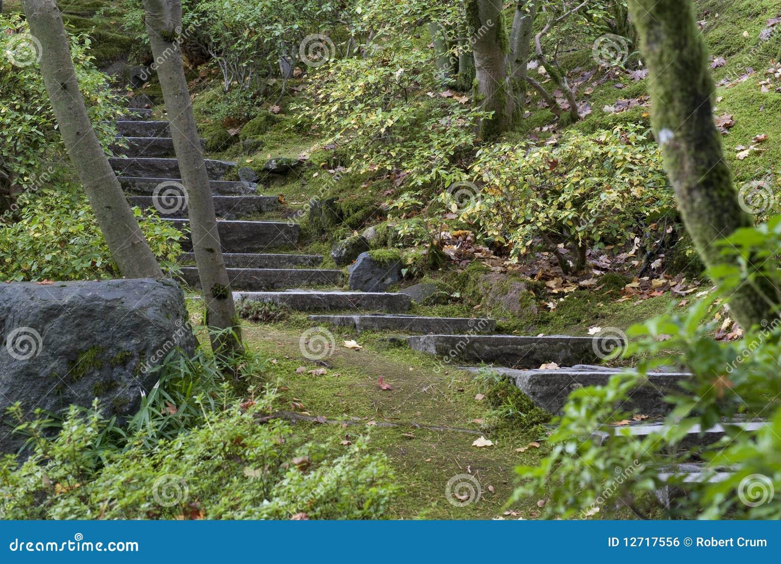 escada de pedra no jardim:de pedra rústico no jardim japonês de portland oregon mr no pr no