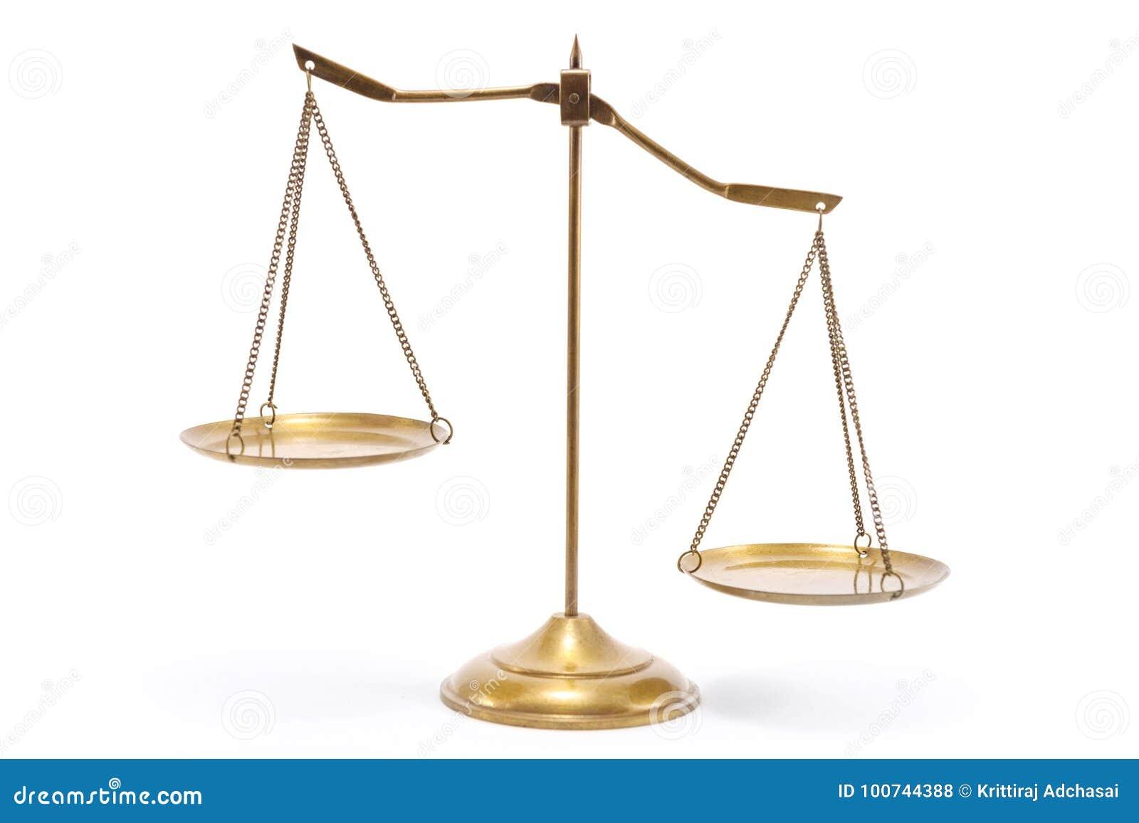 Escala de cobre amarillo de la balanza del oro