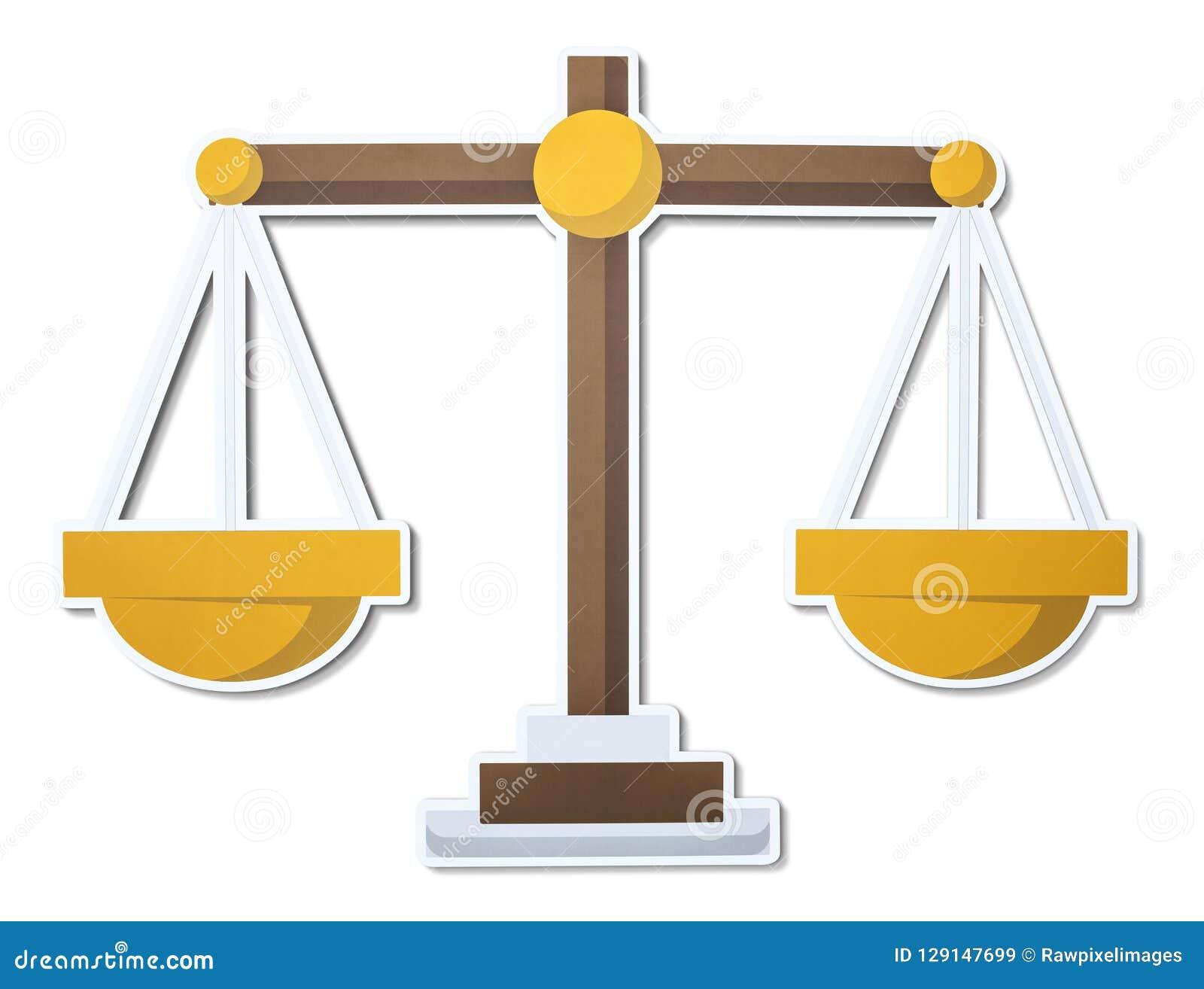 Escala del icono del ejemplo de la justicia