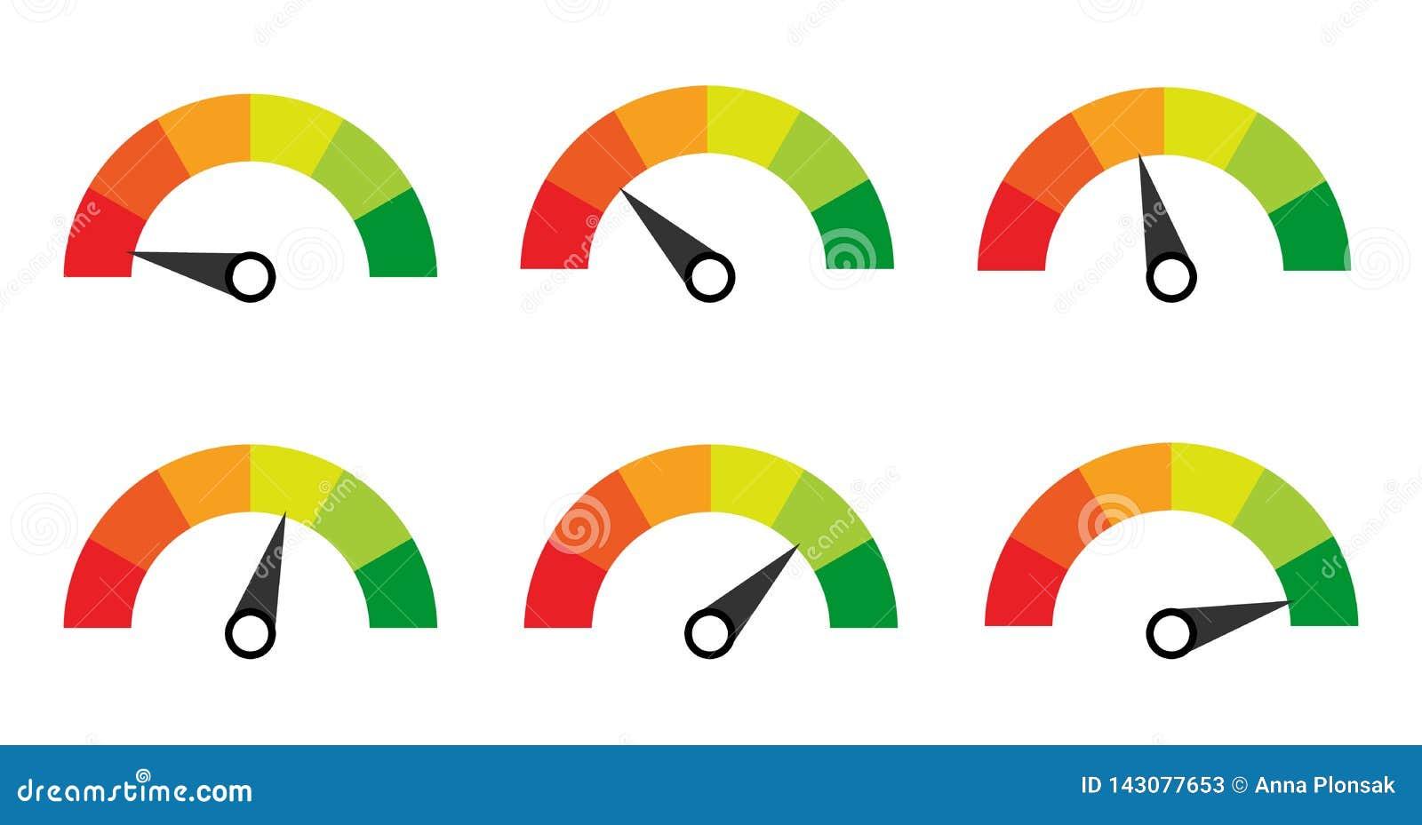 Escala galga contador Indicadores con diversos indicadores