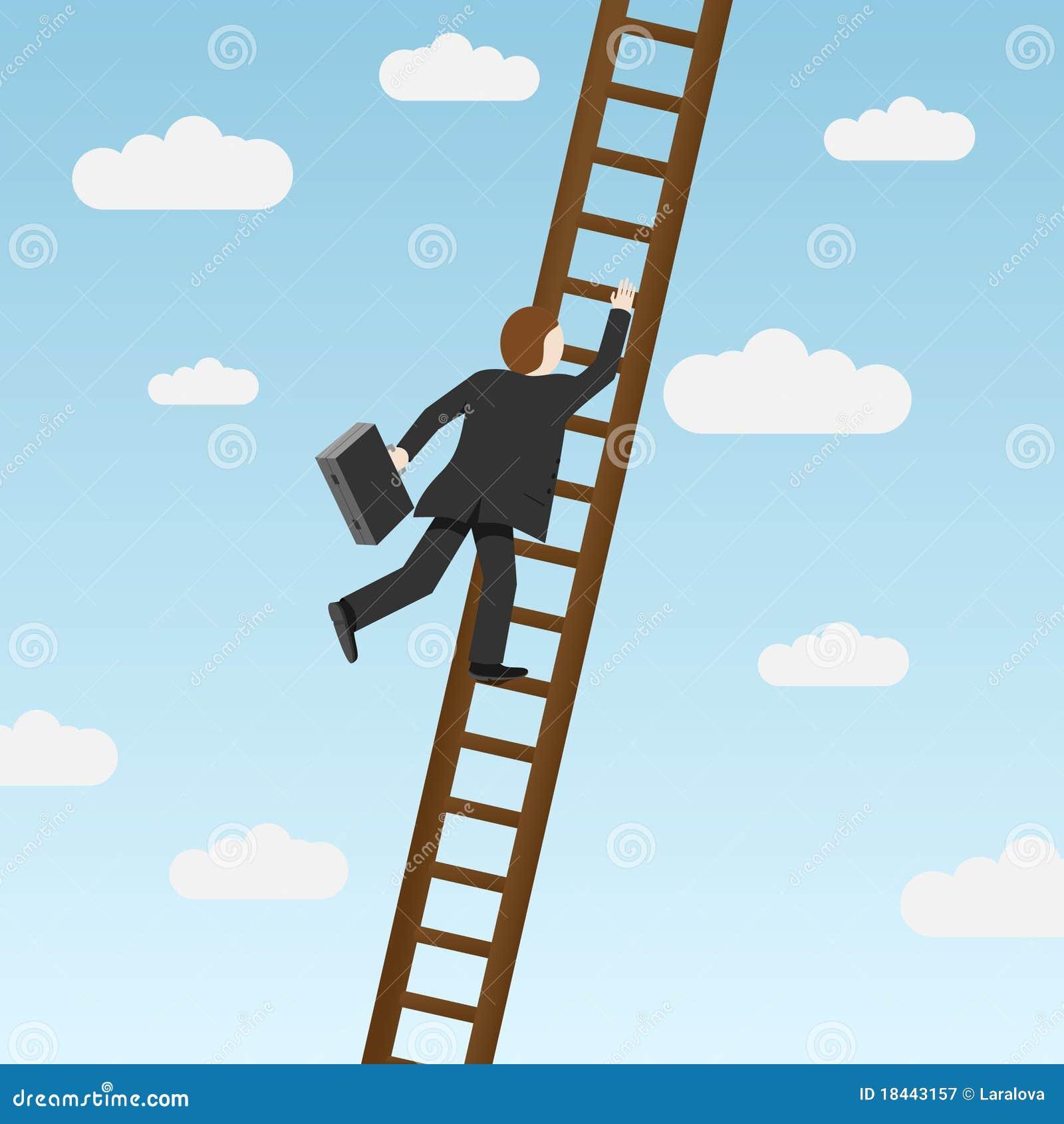Escala que sube del hombre de negocios