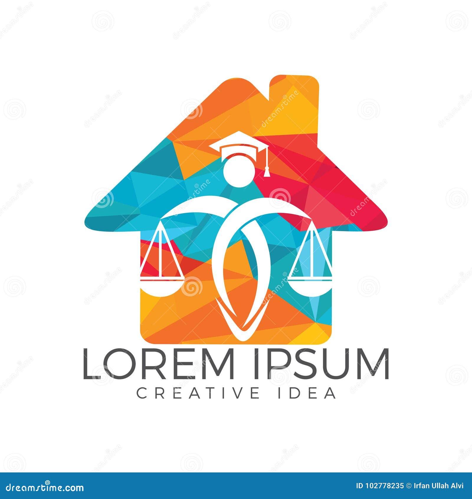 Escalas de la tenencia del hombre de la justicia Logo Ley y abogado Logo Design