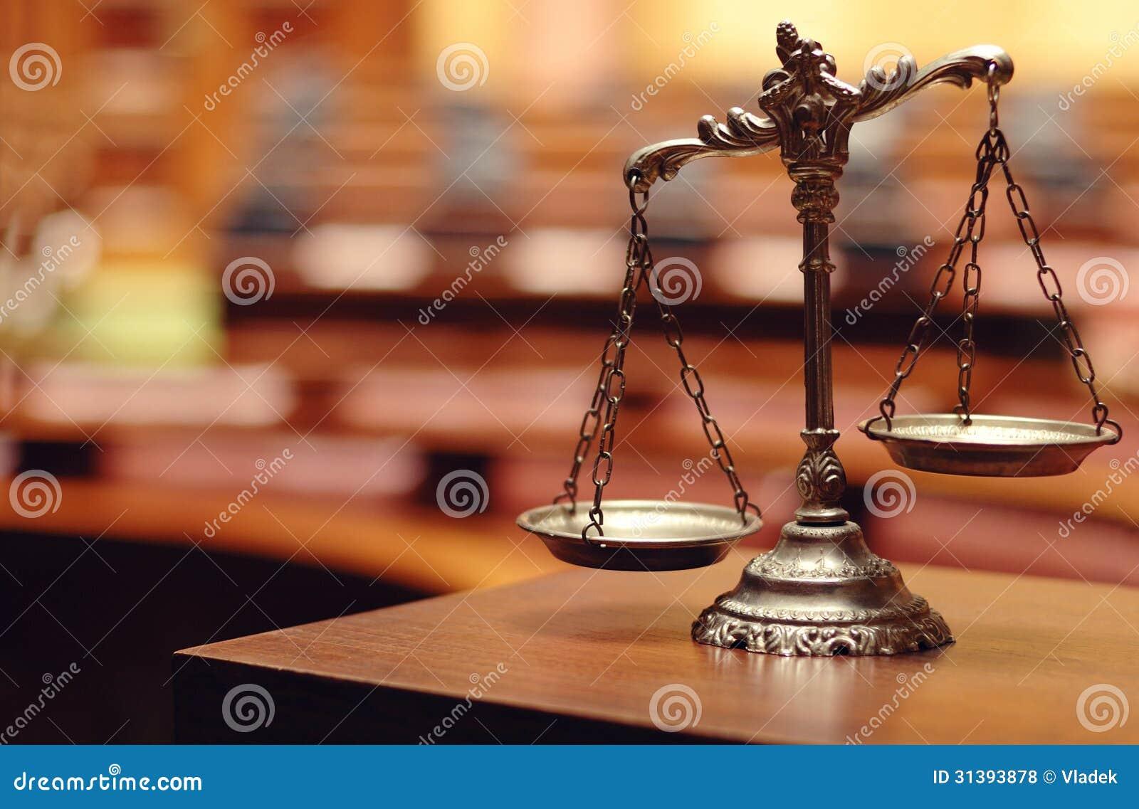 Escalas decorativas de la justicia