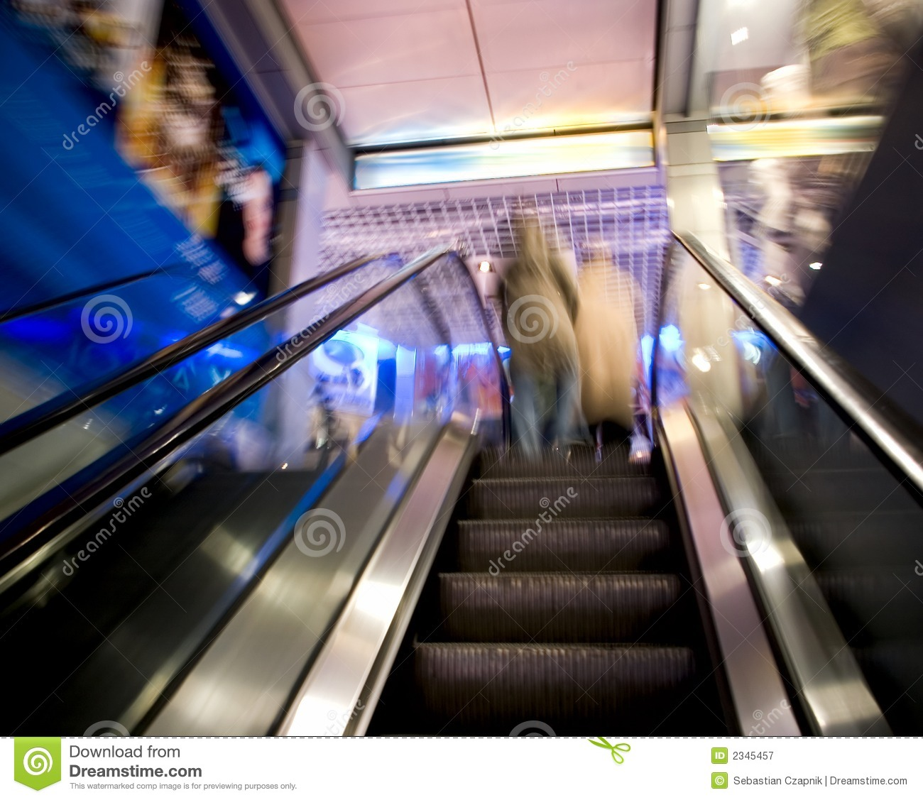 Escalator blur.