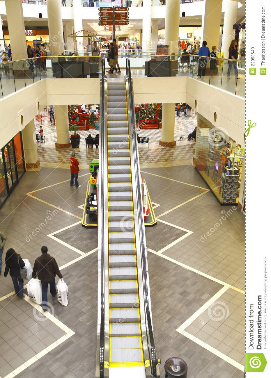 Escalator In A Mall Editorial Image Image Of Centre