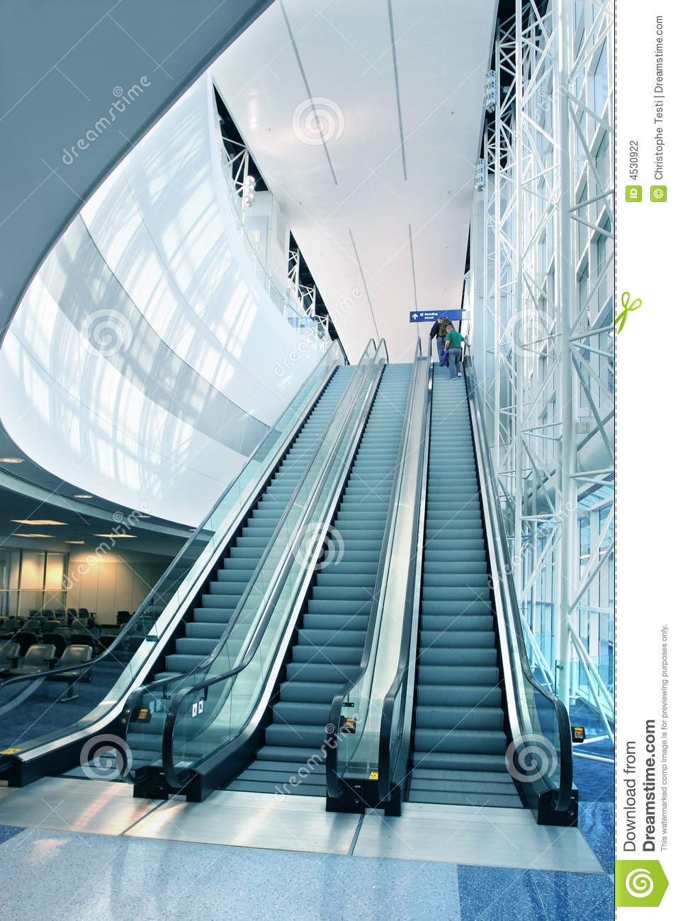 Escalator In Modern Airport Stock Photography - Image: 4530922