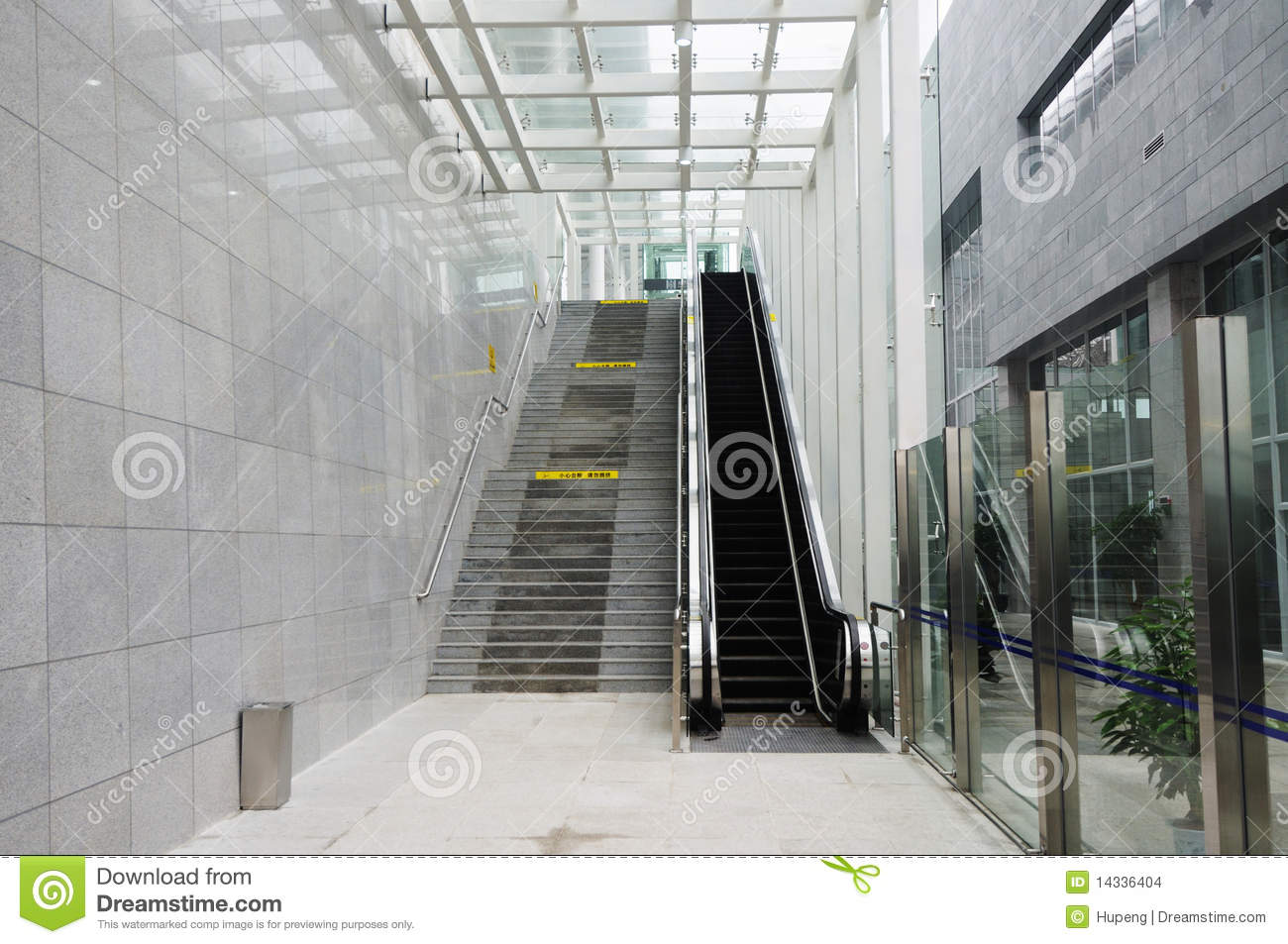 Escalator And Stairs Stock Images Image 14336404