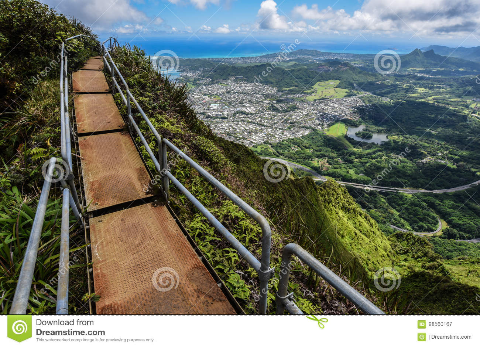 Escalera al cielo, Oahu, Hawaii