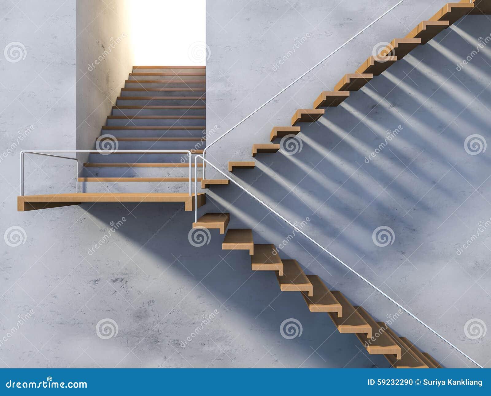 Escalera de madera 3ds