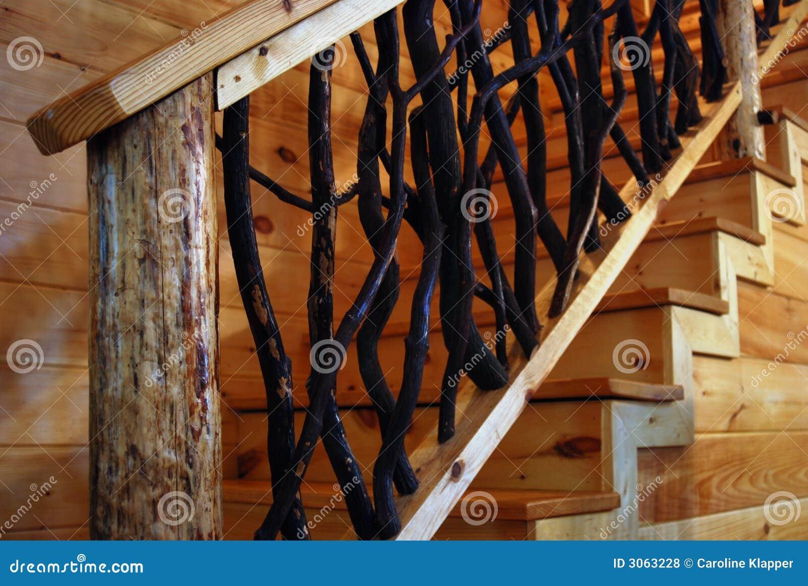 Escalera de madera r stica fotos de archivo libres de - Escaleras rusticas de madera ...