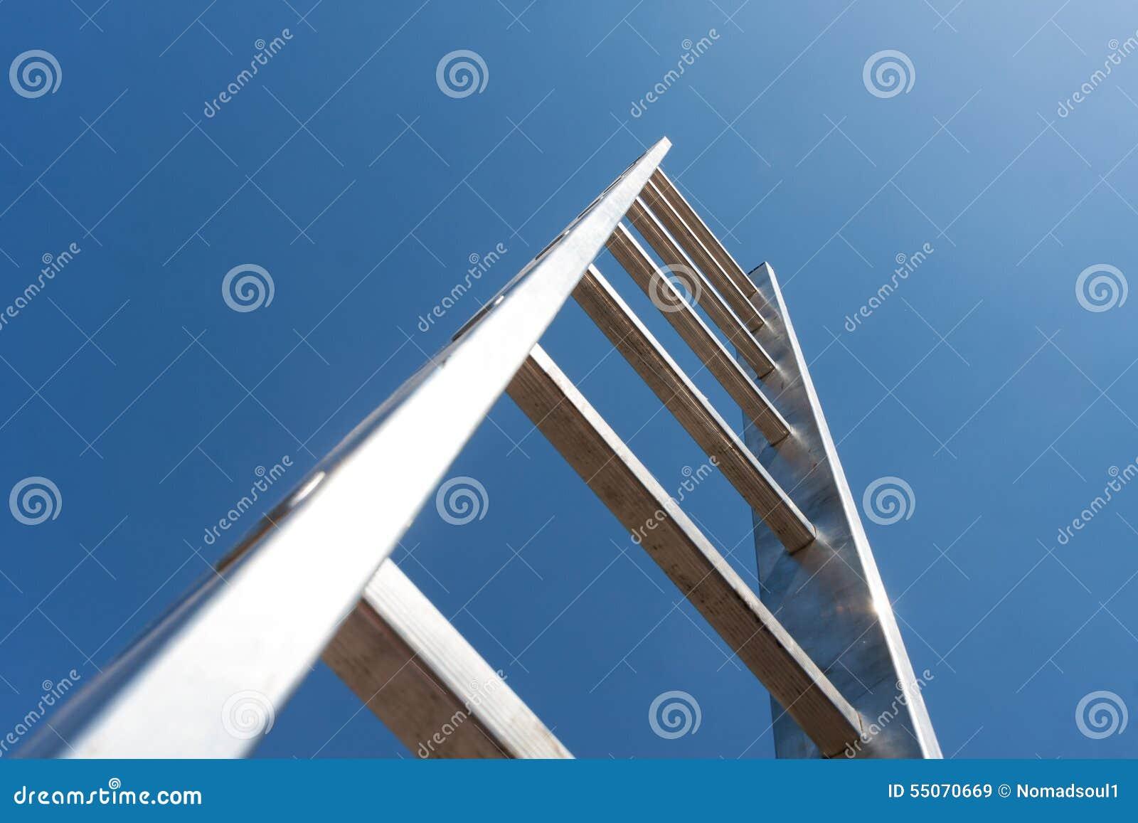 Escalera del metal