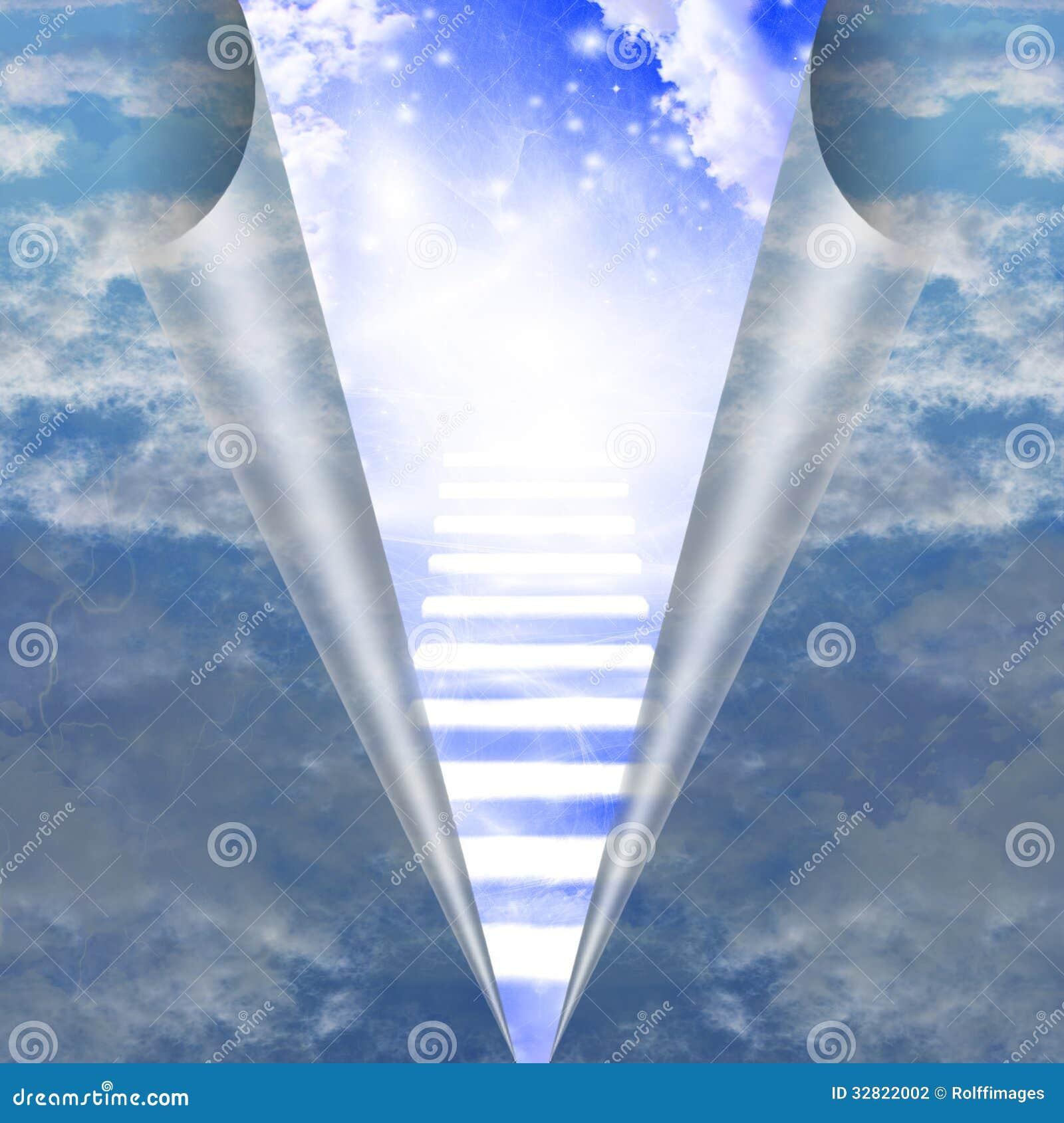 Escalera en el cielo revelador