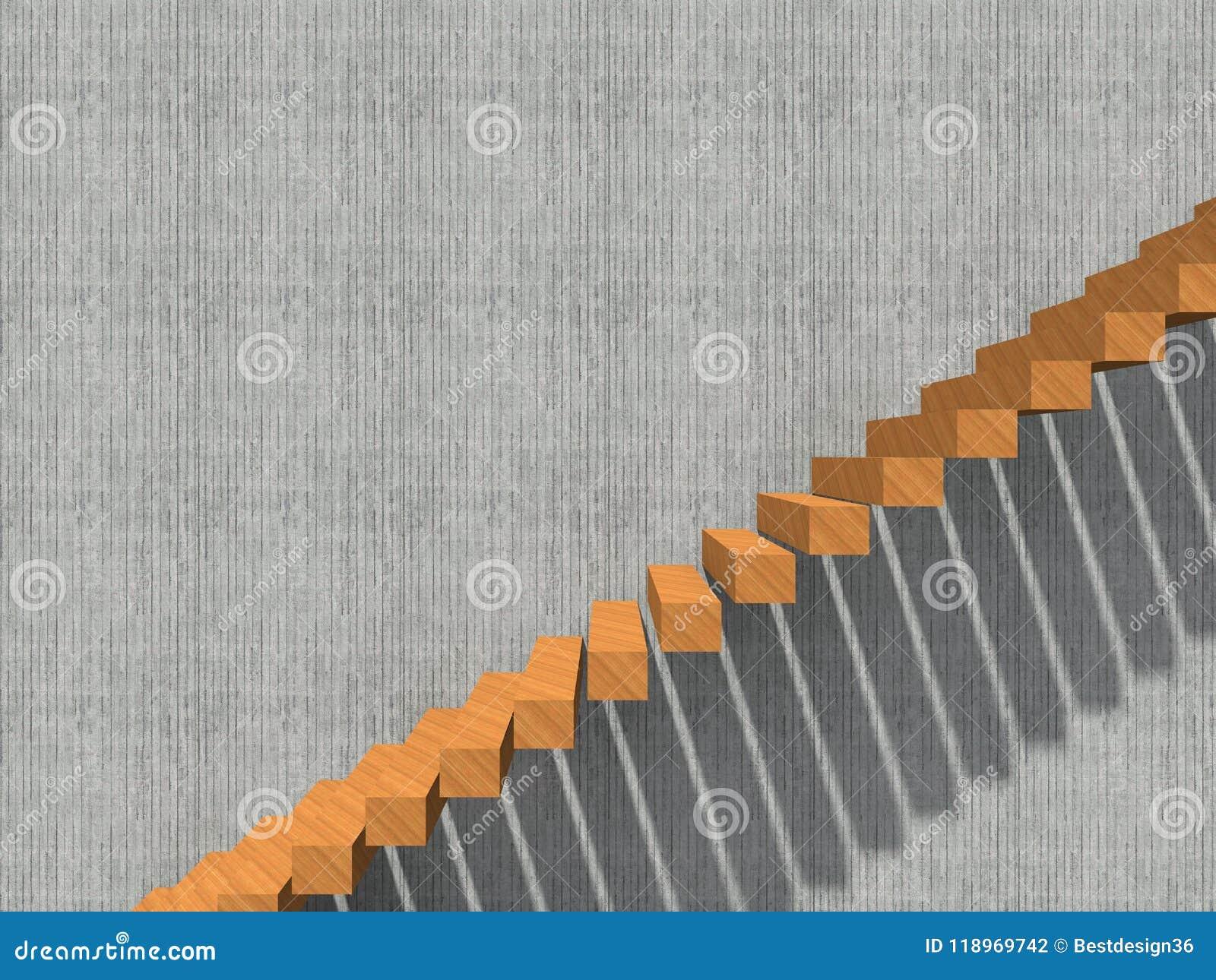 Escalera En El Edificio O La Arquitectura Del Fondo De La Pared ...