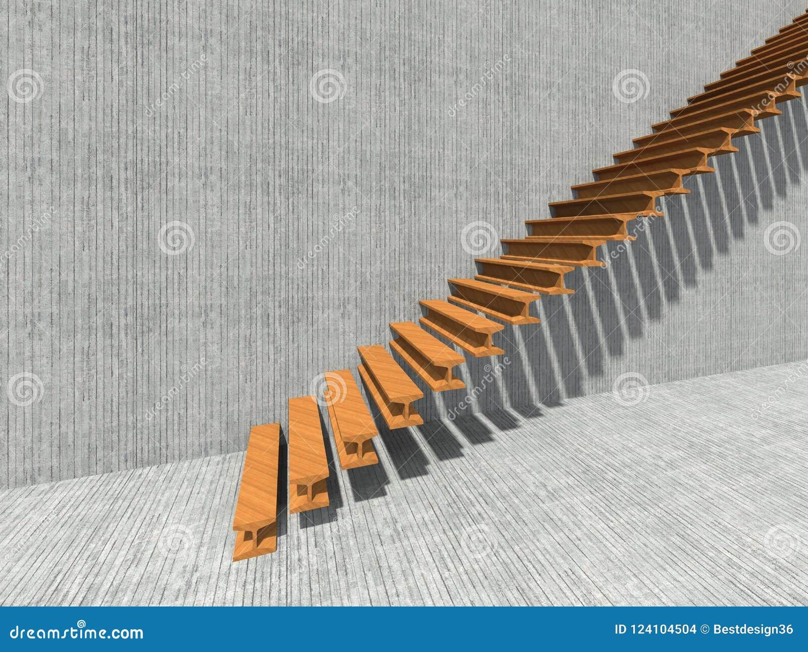 Escalera En El Edificio O La Arquitectura Del Fondo De La Pared Foto ...