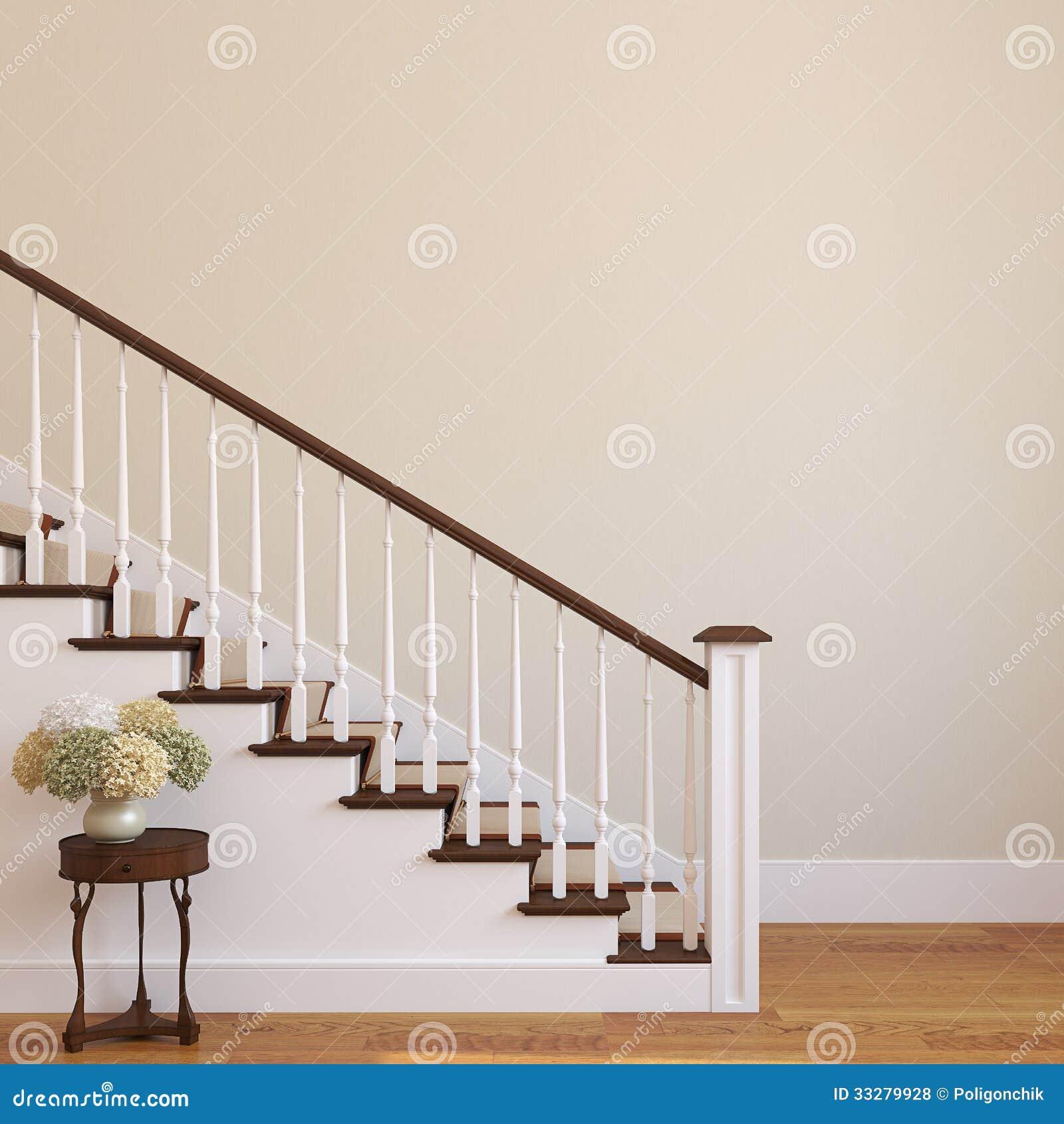Escalera en la casa moderna fotos de archivo libres de for La casa de las escaleras