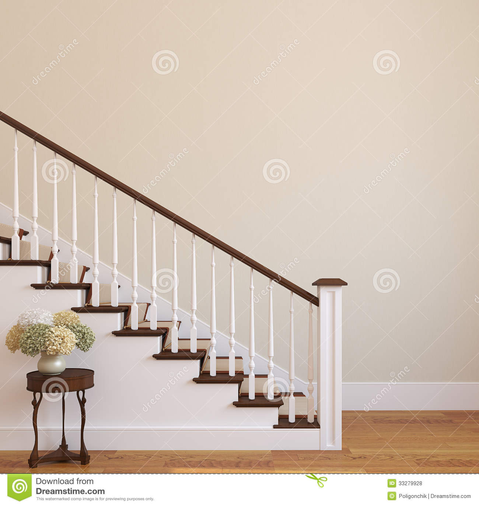 escalera en la casa moderna