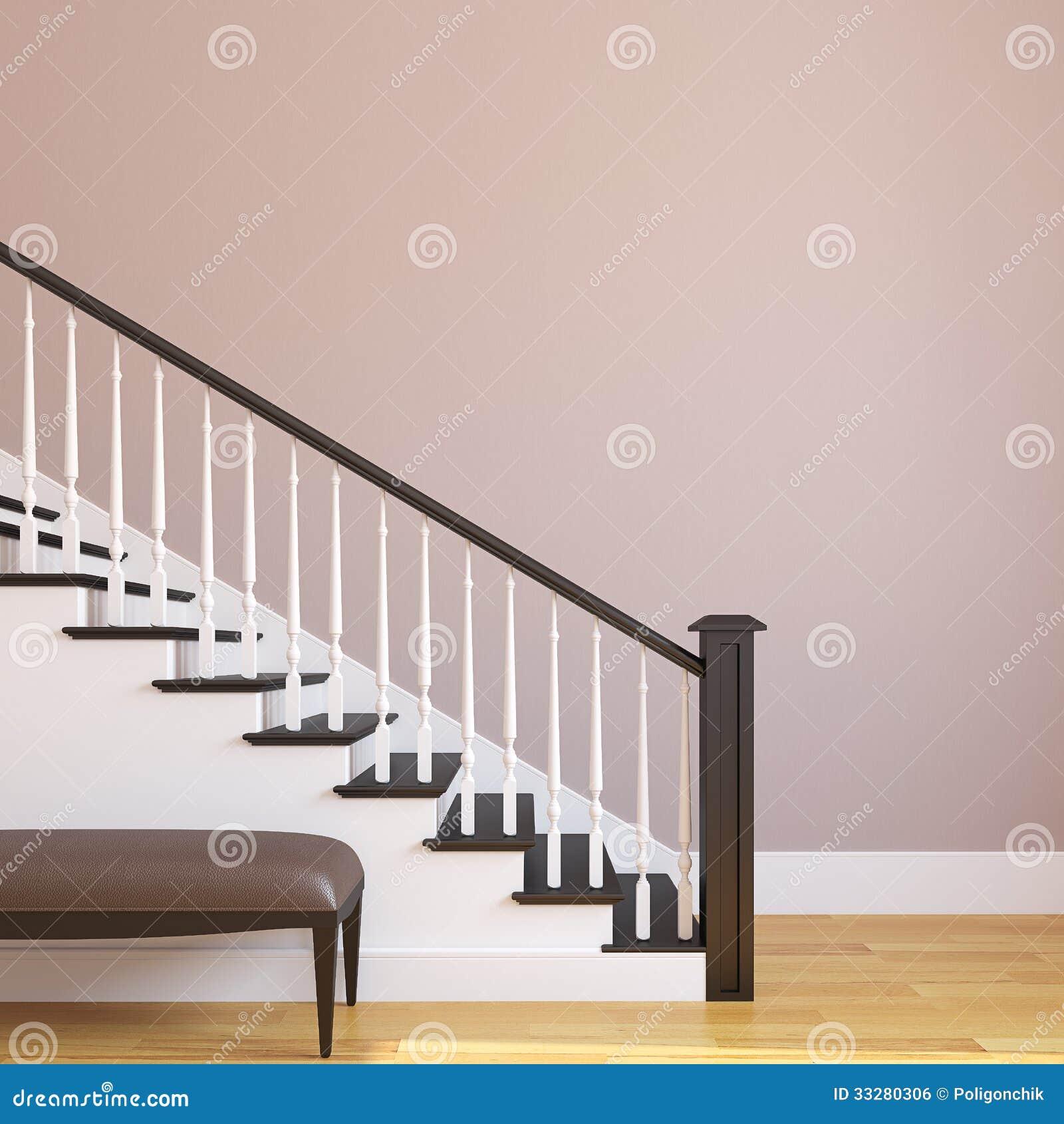 Escalera en la casa moderna stock de ilustraci n - Fotos de escaleras modernas ...