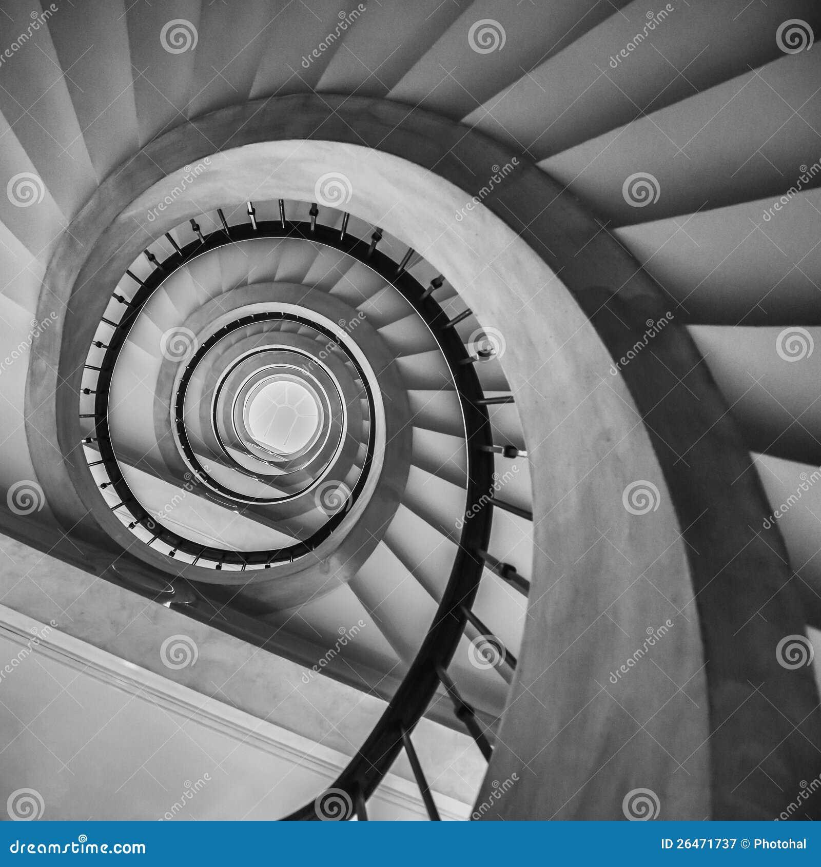 escalera espiral en barcelona