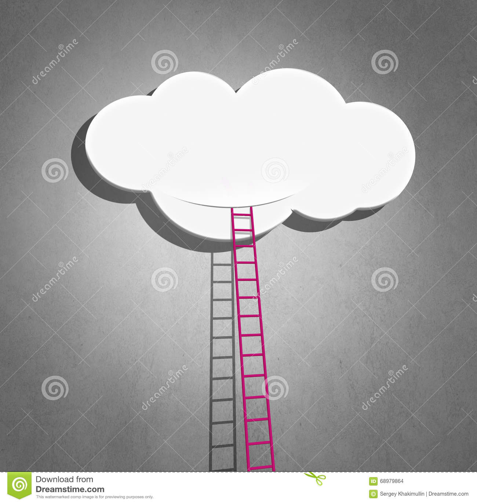 Escalera a nublarse en cielo