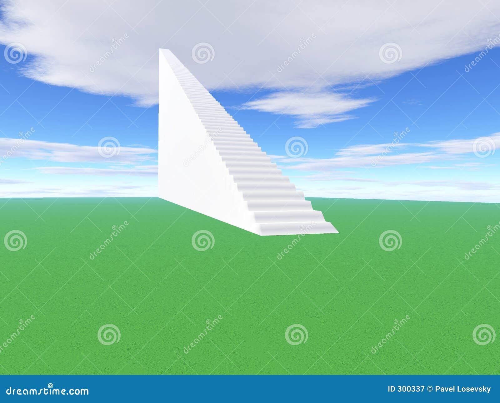 Escalera a subir al éxito