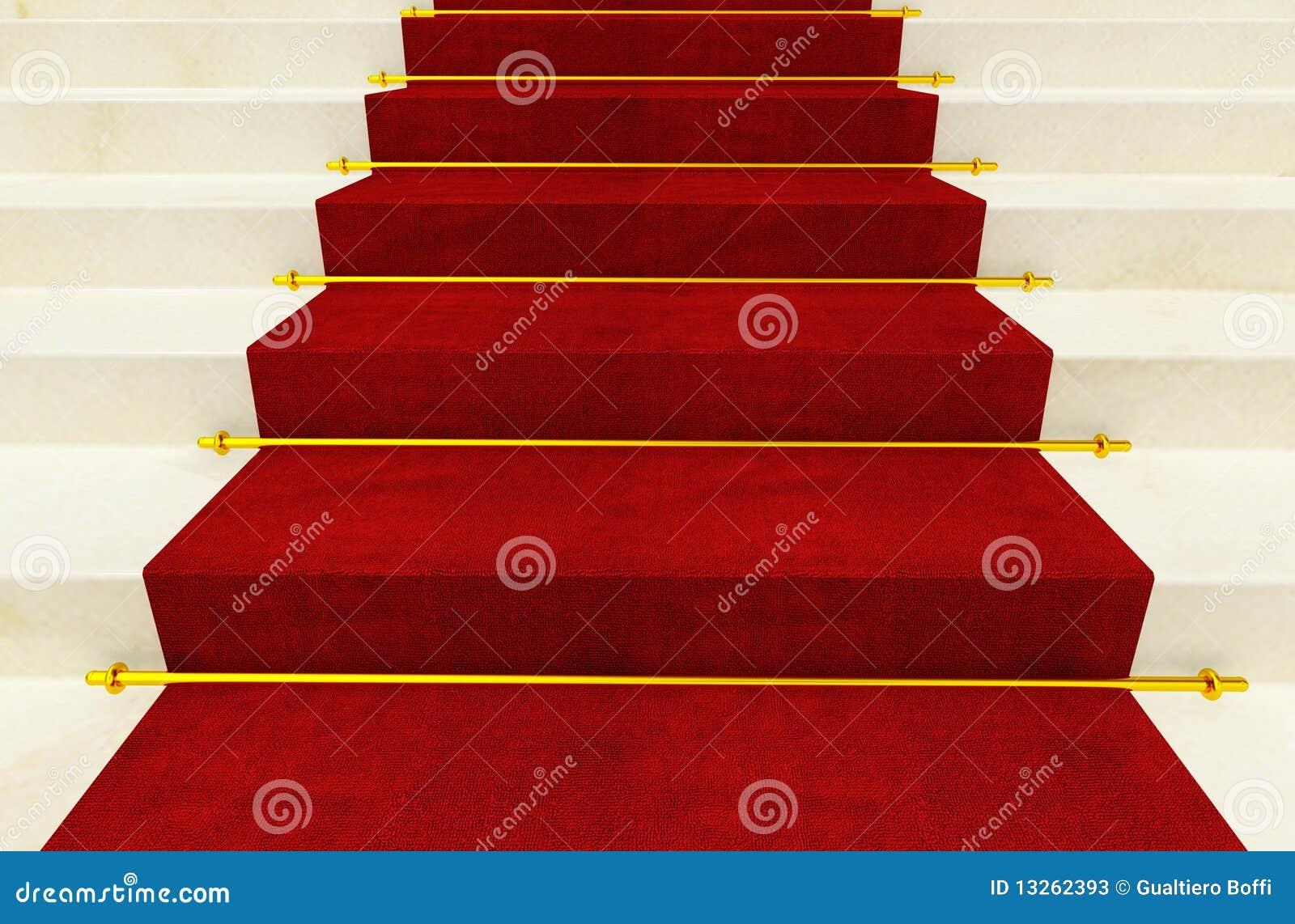 Escalera y alfombra roja stock de ilustraci n imagen de - Alfombra para escalera ...