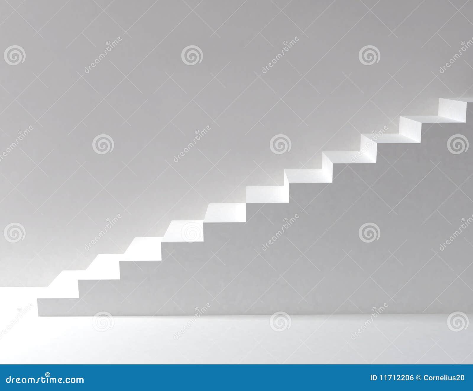 Escaleras blancas stock de ilustración. Ilustración de pared - 11712206