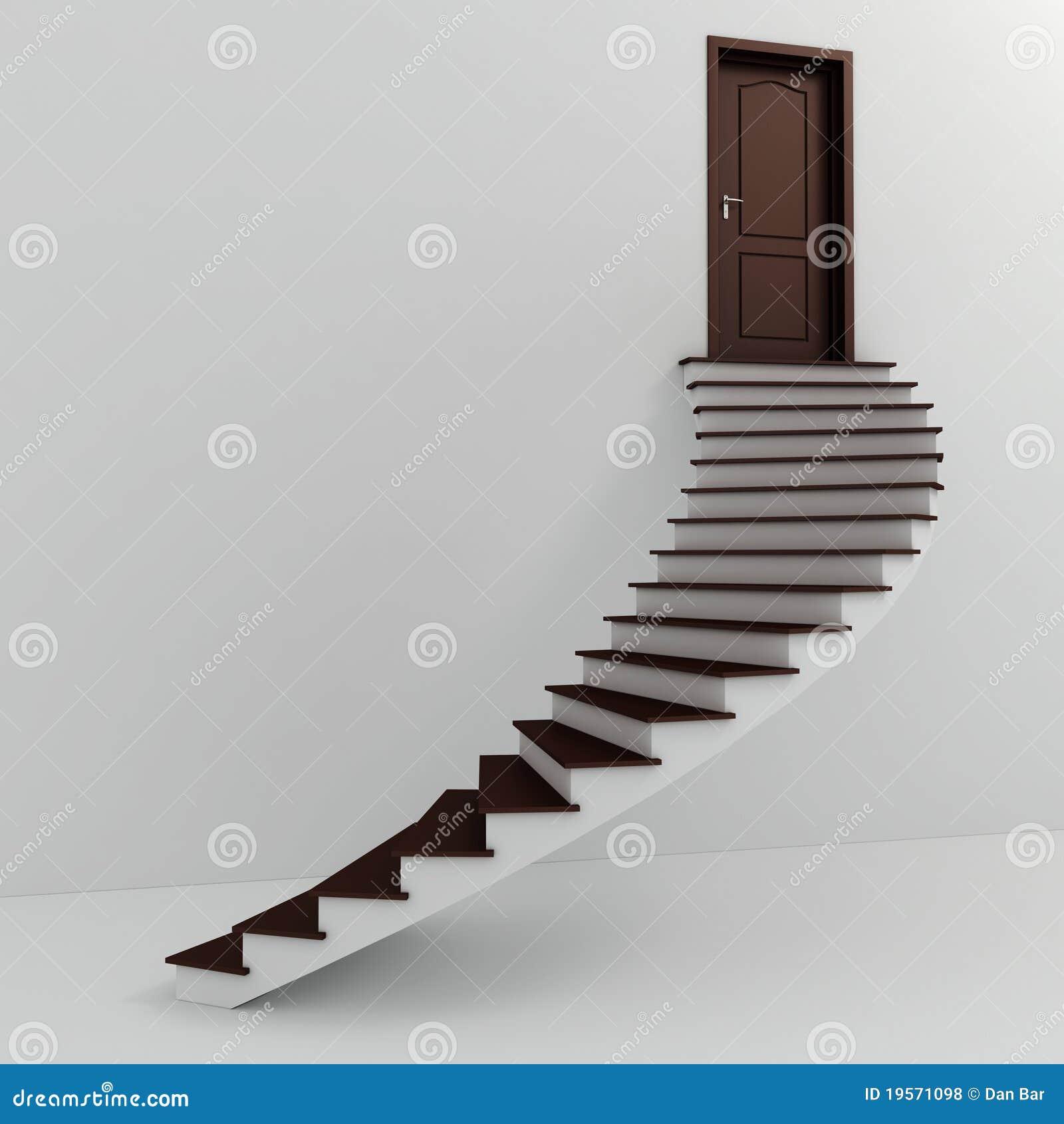 Escaleras blancas 3d que suben fotos de archivo libres de - Escaleras blancas ...