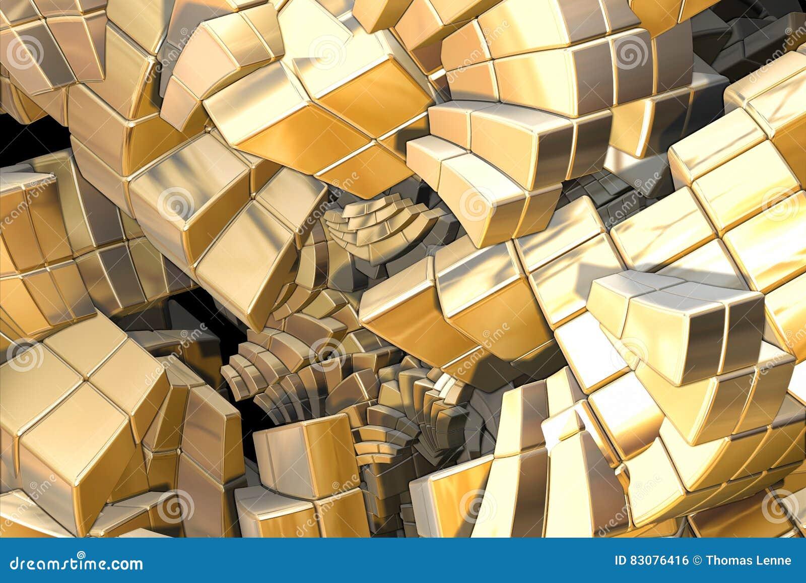 Escaleras de oro del fractal