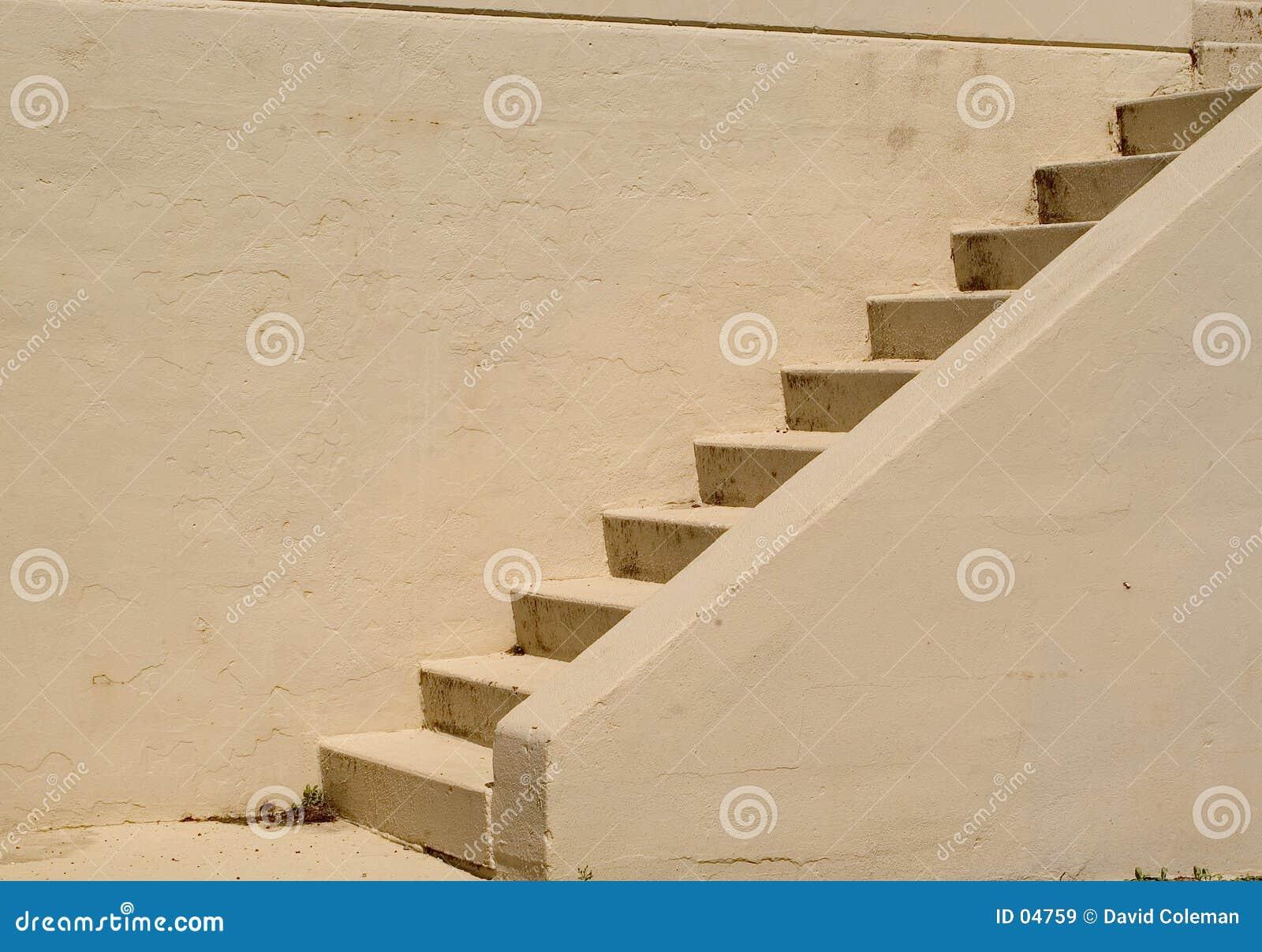 Escaleras del cemento