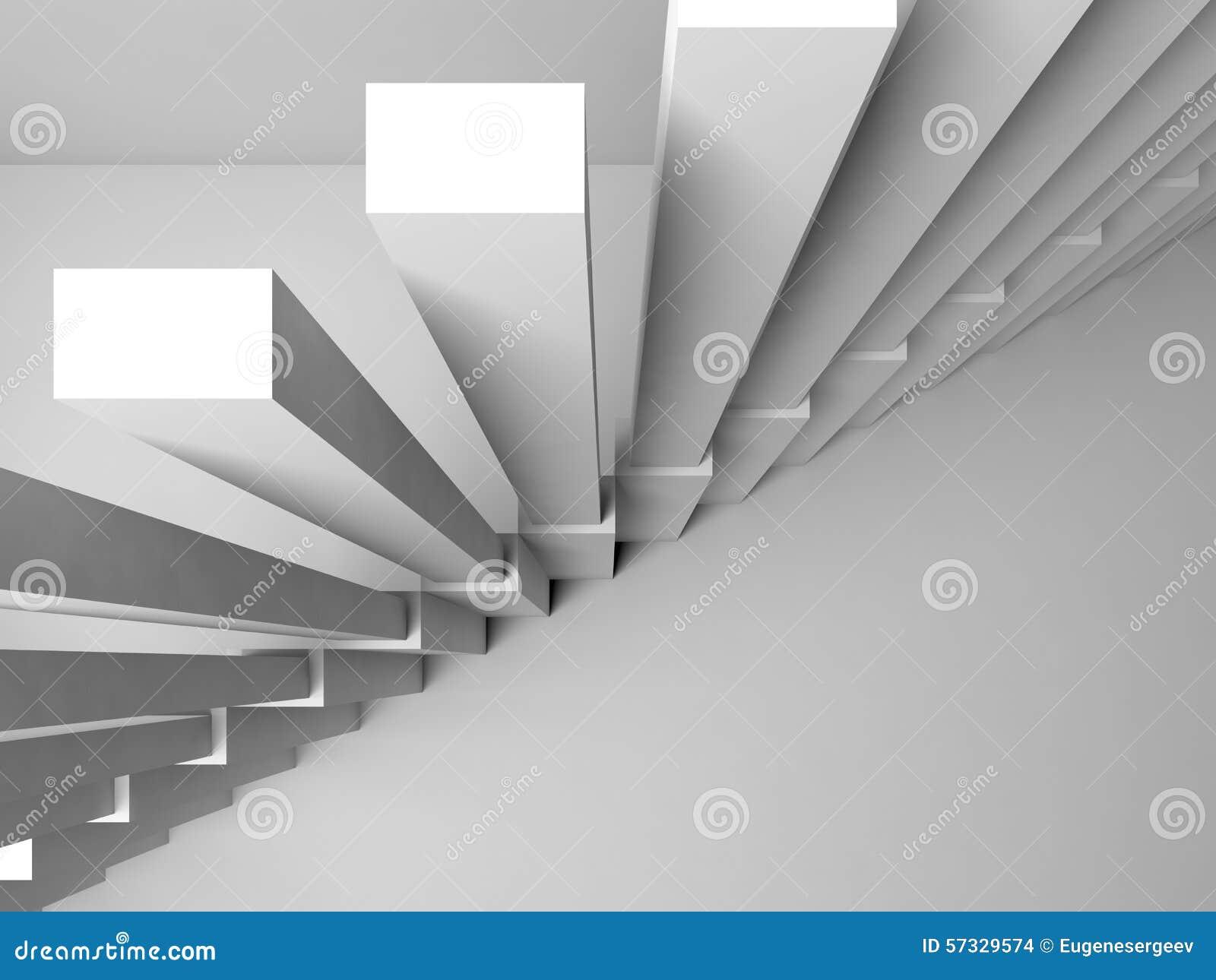 escaleras en la pared blanca fragmento del interior d imagenes de archivo