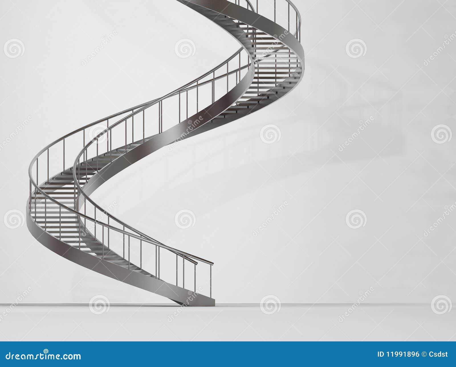 Escaleras espirales largas for Escaleras largas