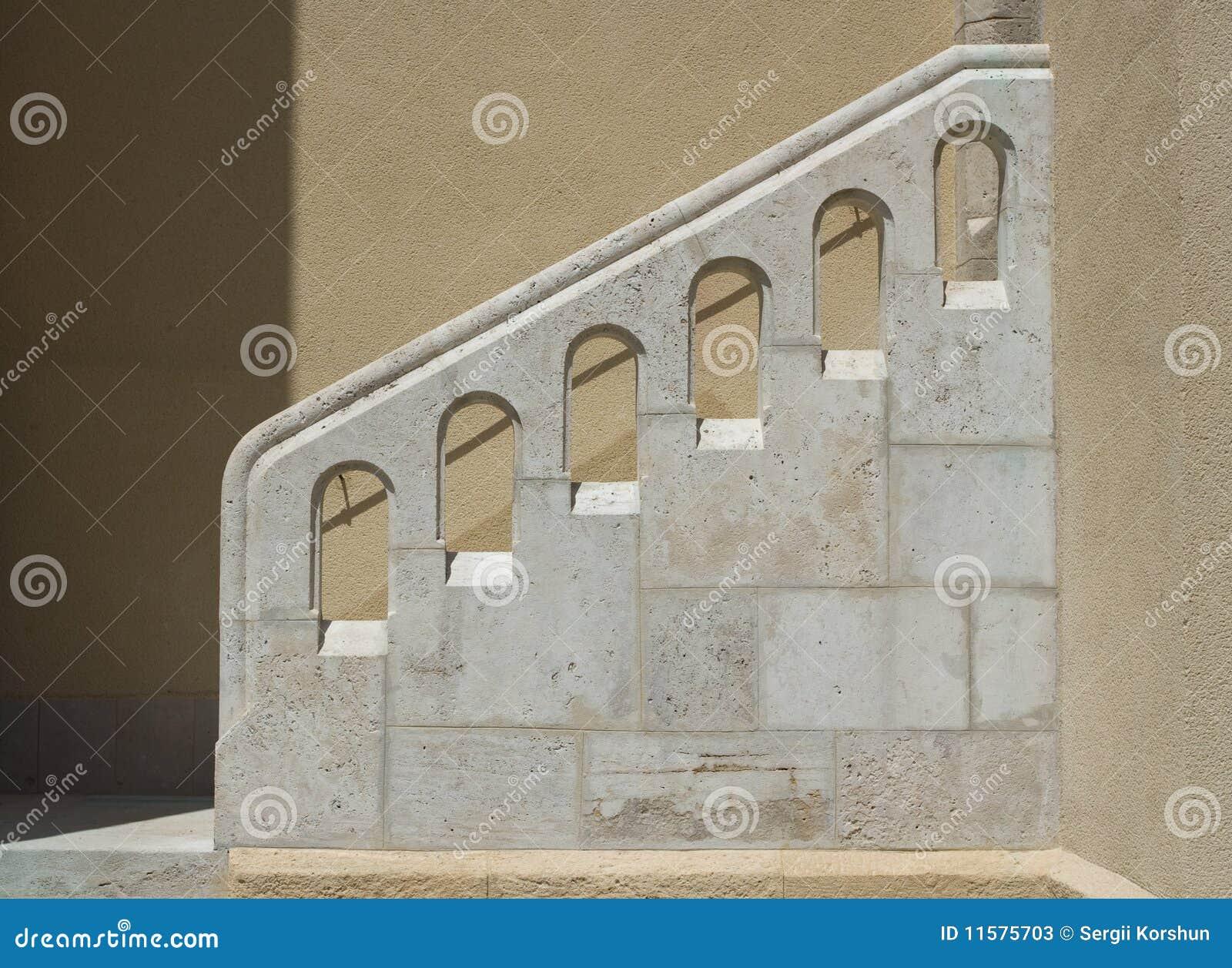 barandilla elemento estilo piedra escalera construcci amarillento exterior