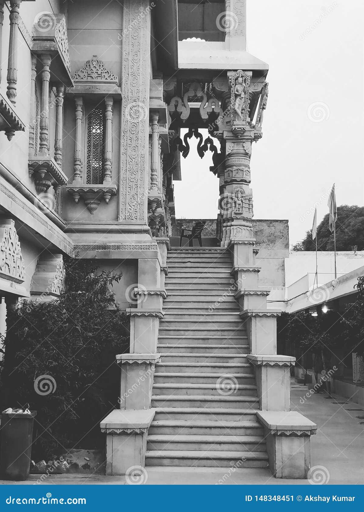 Escaleras que construyen el ludhiana Punjab la India