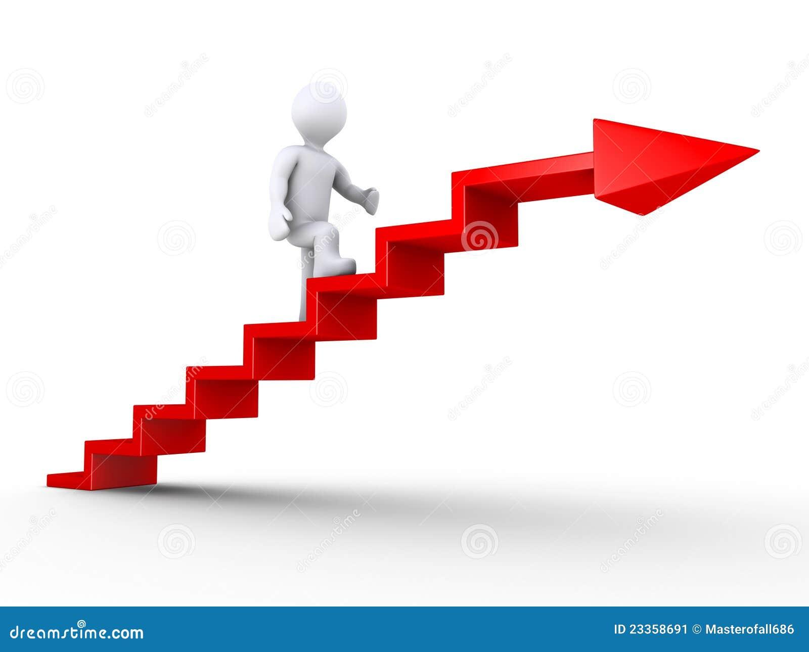 Escaleras que suben del xito imagen de archivo imagen - Imagenes de escaleras ...