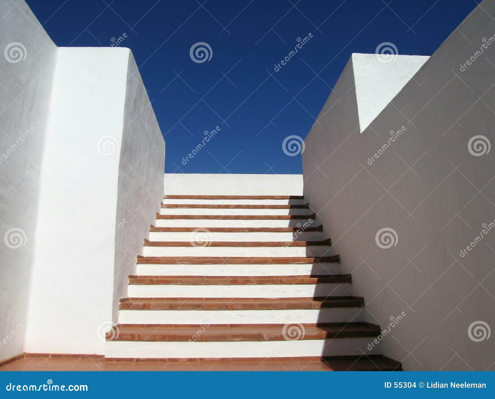Download Escalier photo stock. Image du architecture, bleu, haut - 55304