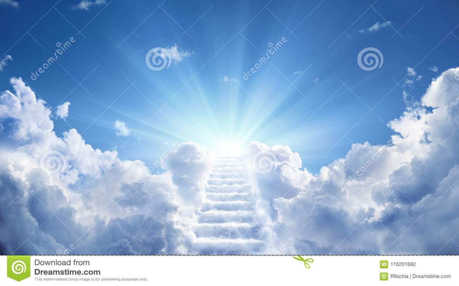 Escalier amenant au ciel merveilleux