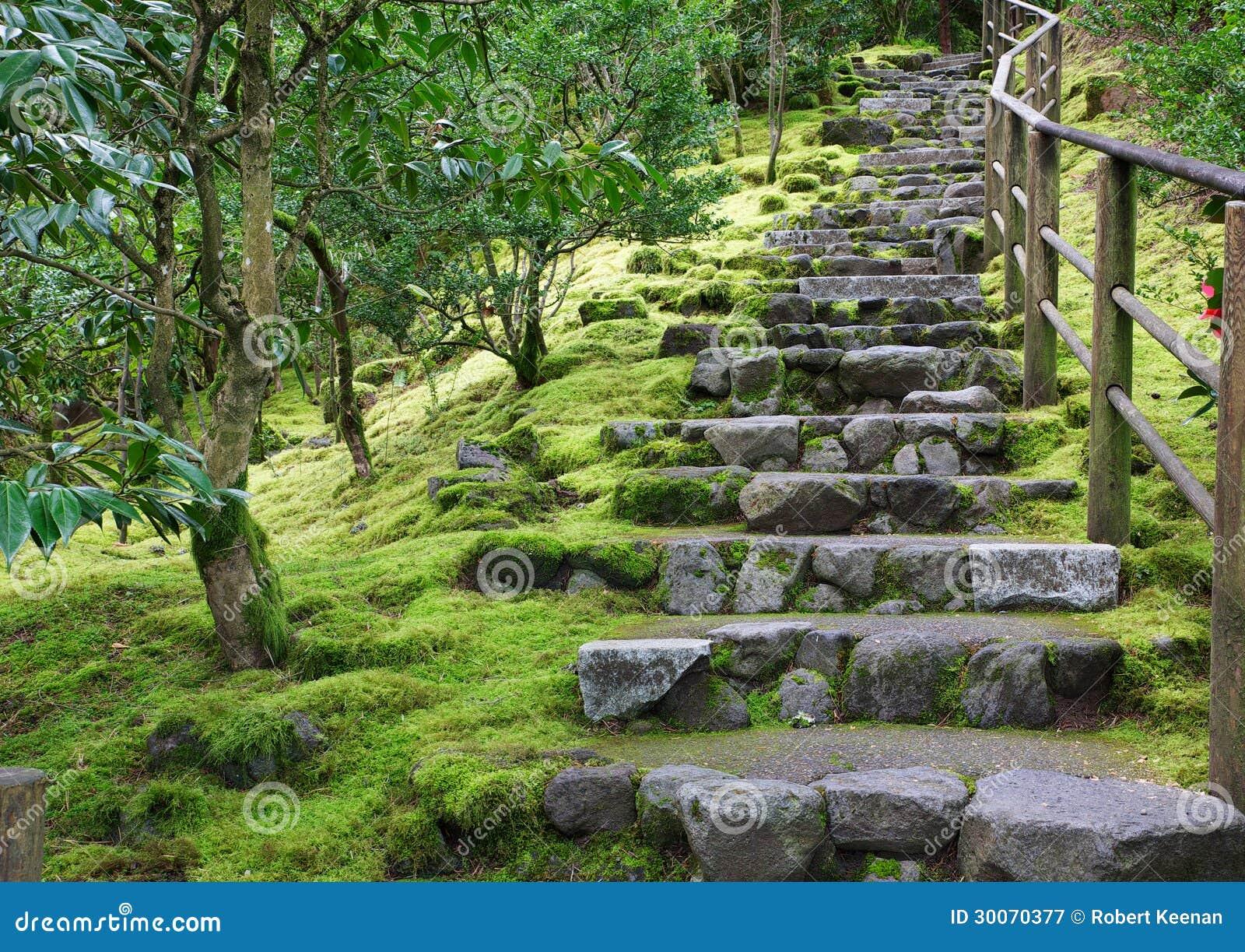 escalier asiatique de pierre de jardin photographie stock libre de droits image 30070377. Black Bedroom Furniture Sets. Home Design Ideas