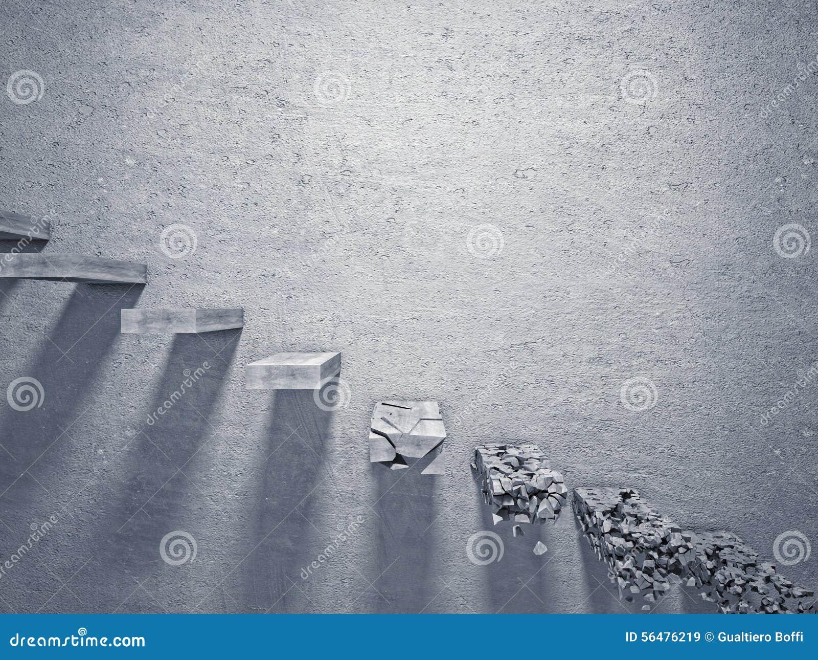 Escalier cassé