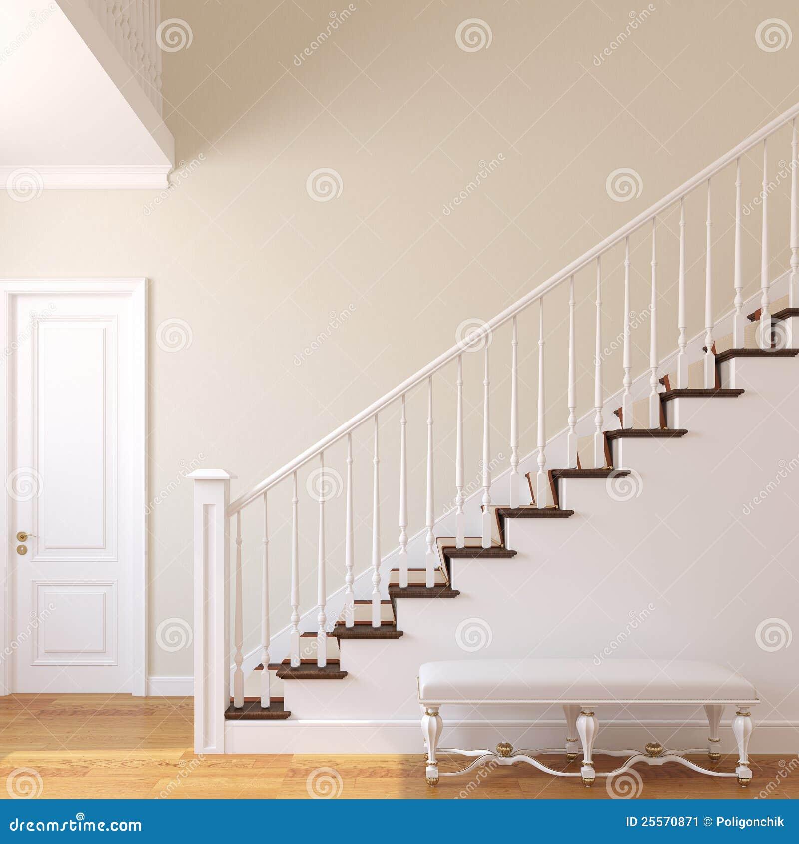 Escalier Dans La Maison escalier dans la maison moderne. illustration stock